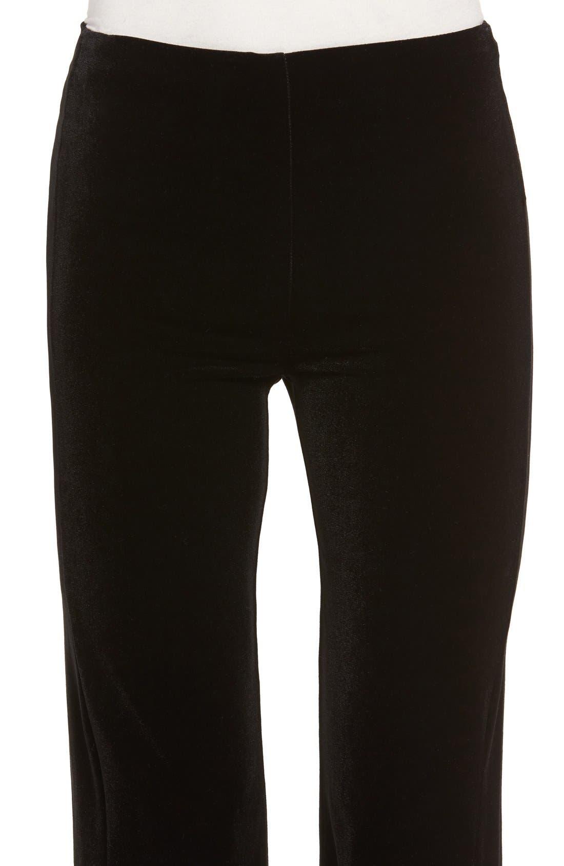 Velvet Pants,                             Alternate thumbnail 4, color,                             Black