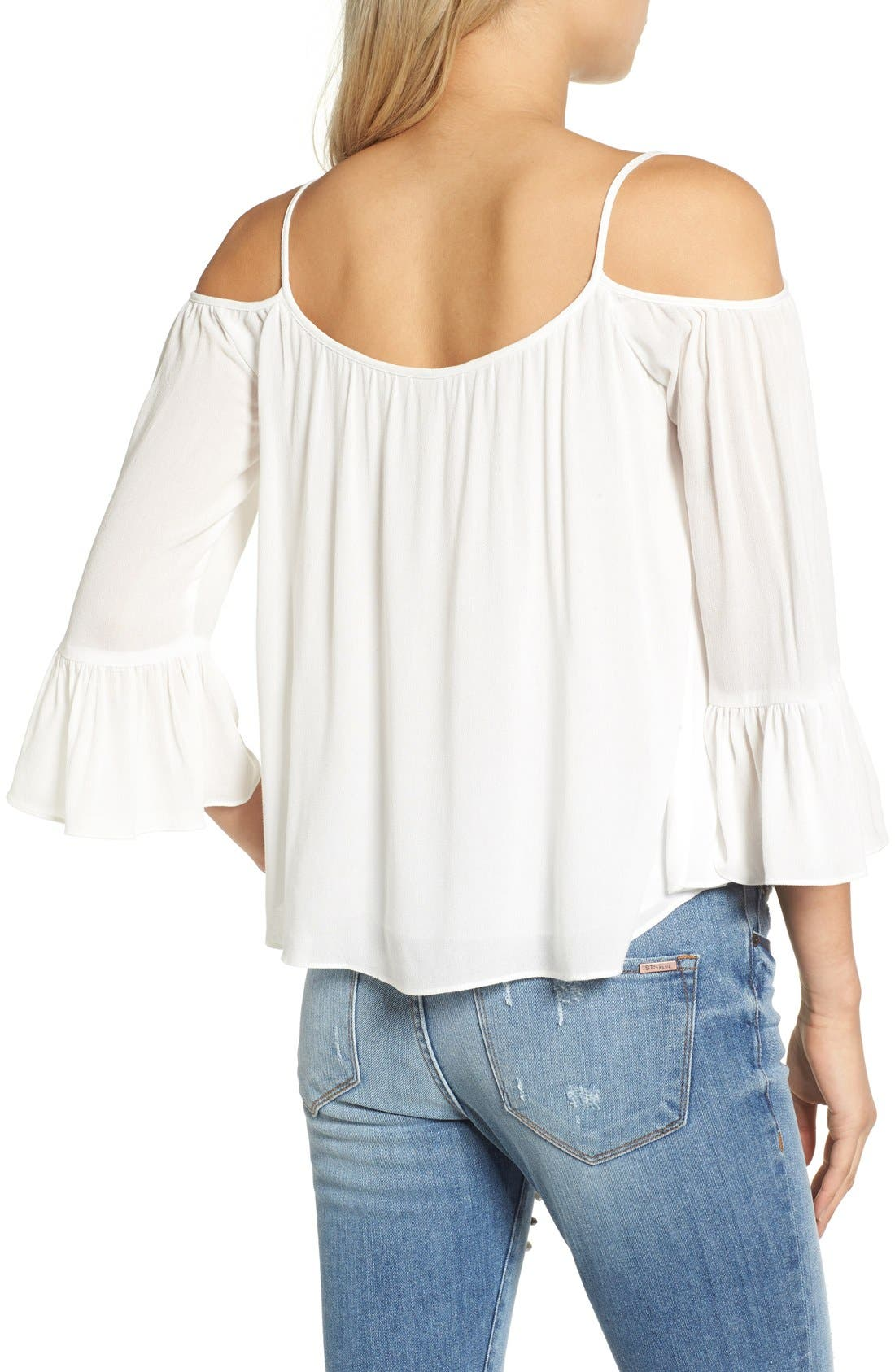Alternate Image 2  - Sun & Shadow Off the Shoulder Ruffle Top