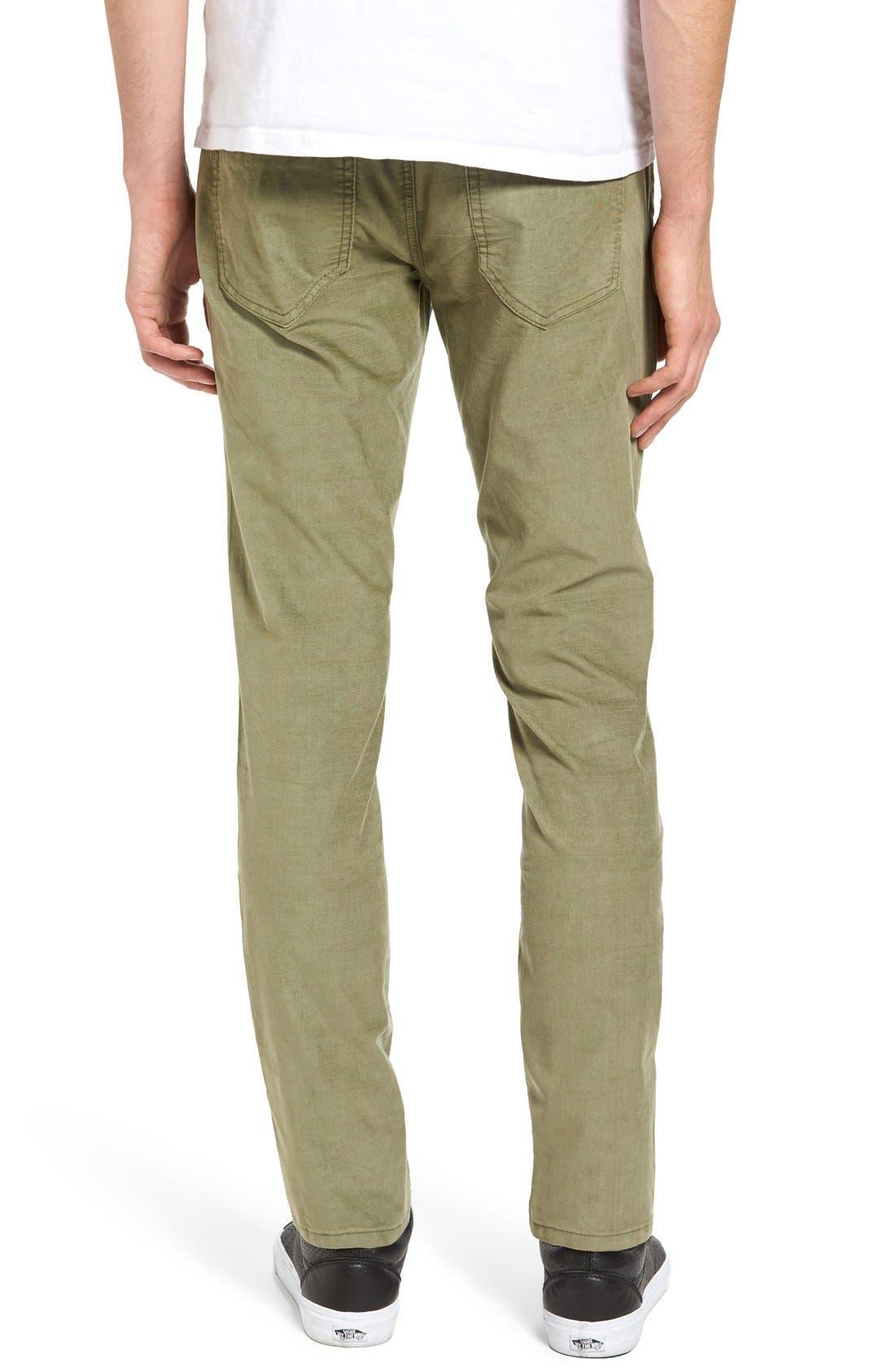 Bryce Chopper Slim Fit Corduroy Pants,                             Alternate thumbnail 2, color,                             Olive
