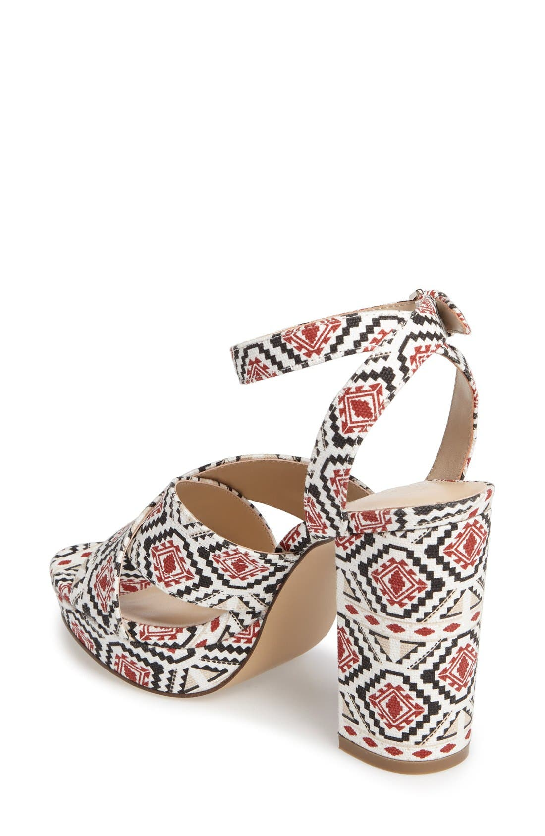 Windye Platform Ankle Strap Sandal,                             Alternate thumbnail 2, color,                             Tribal Fabric