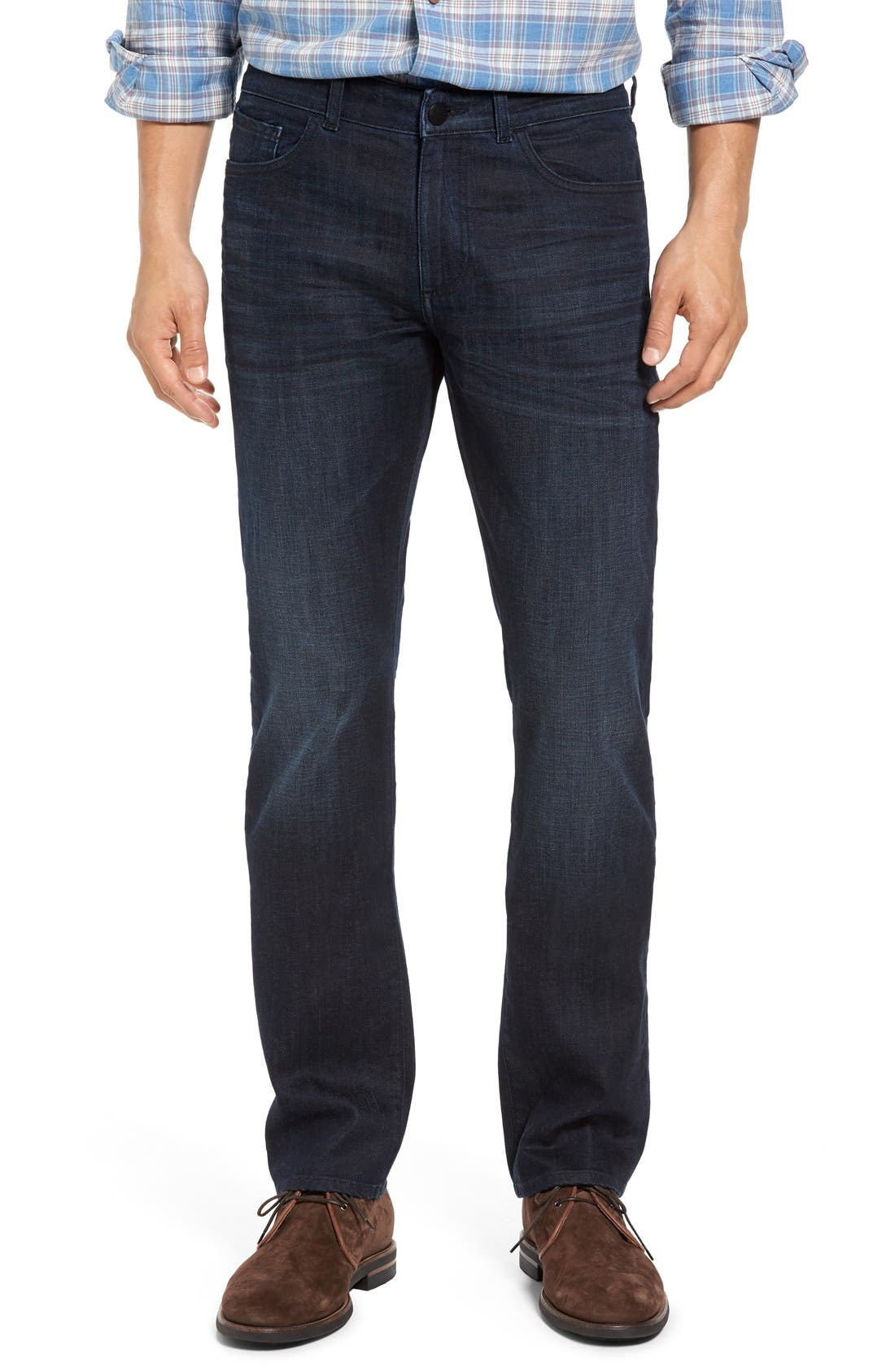 Russell Slim Straight Fit Jeans,                             Main thumbnail 1, color,                             Ink