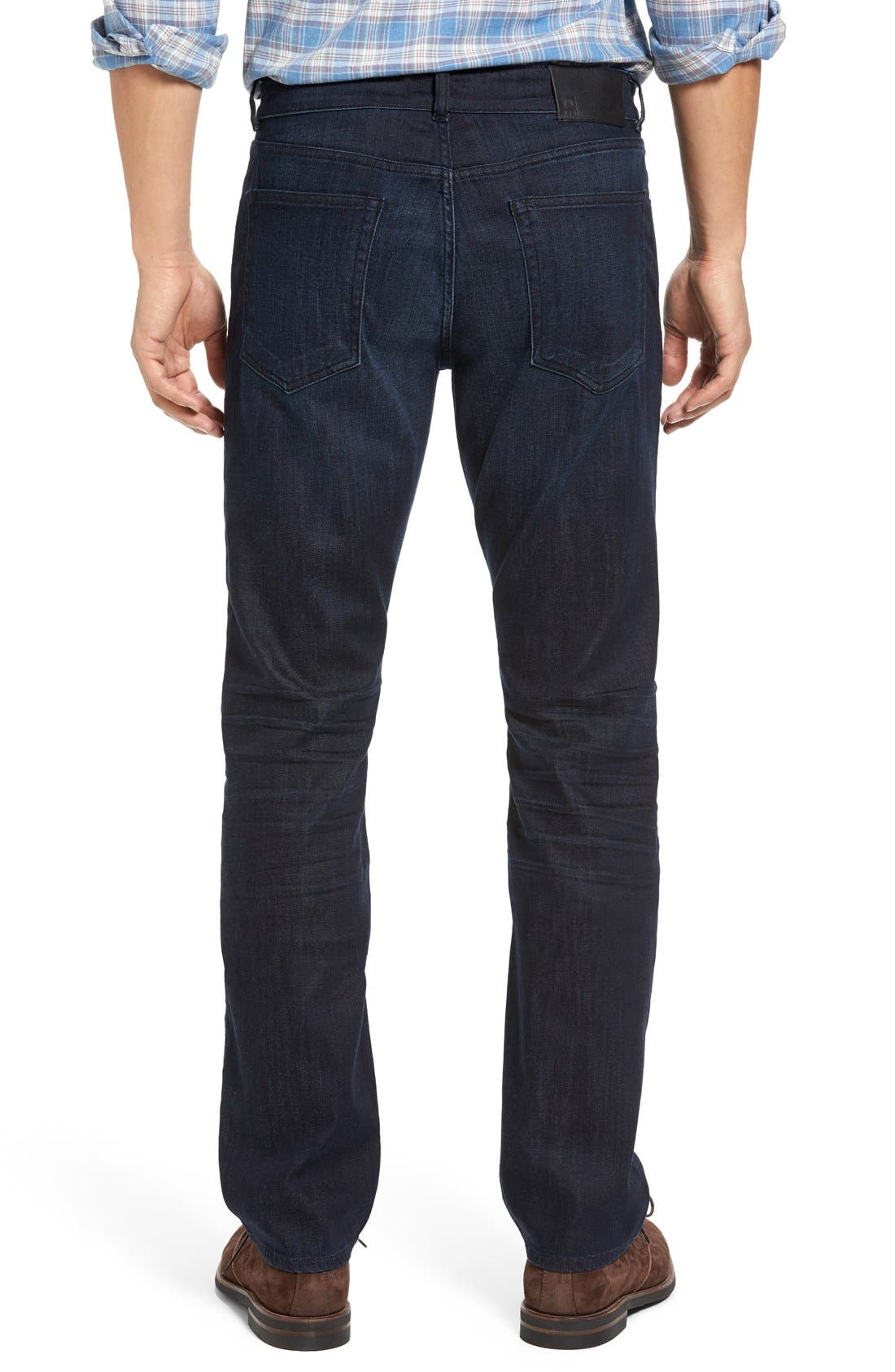 Russell Slim Straight Fit Jeans,                             Alternate thumbnail 2, color,                             Ink