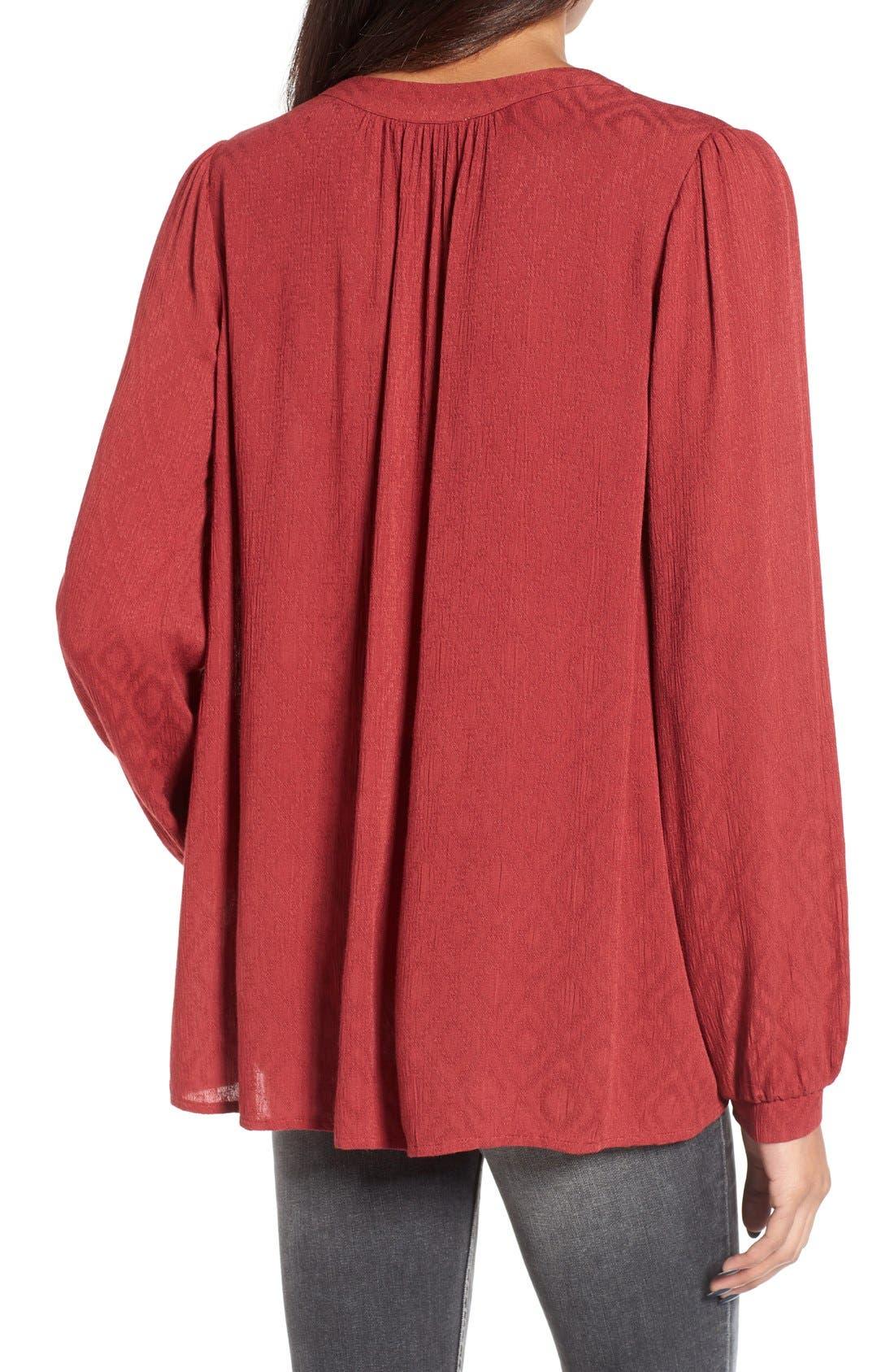 Alternate Image 2  - Lush Textured V-Neck Blouse