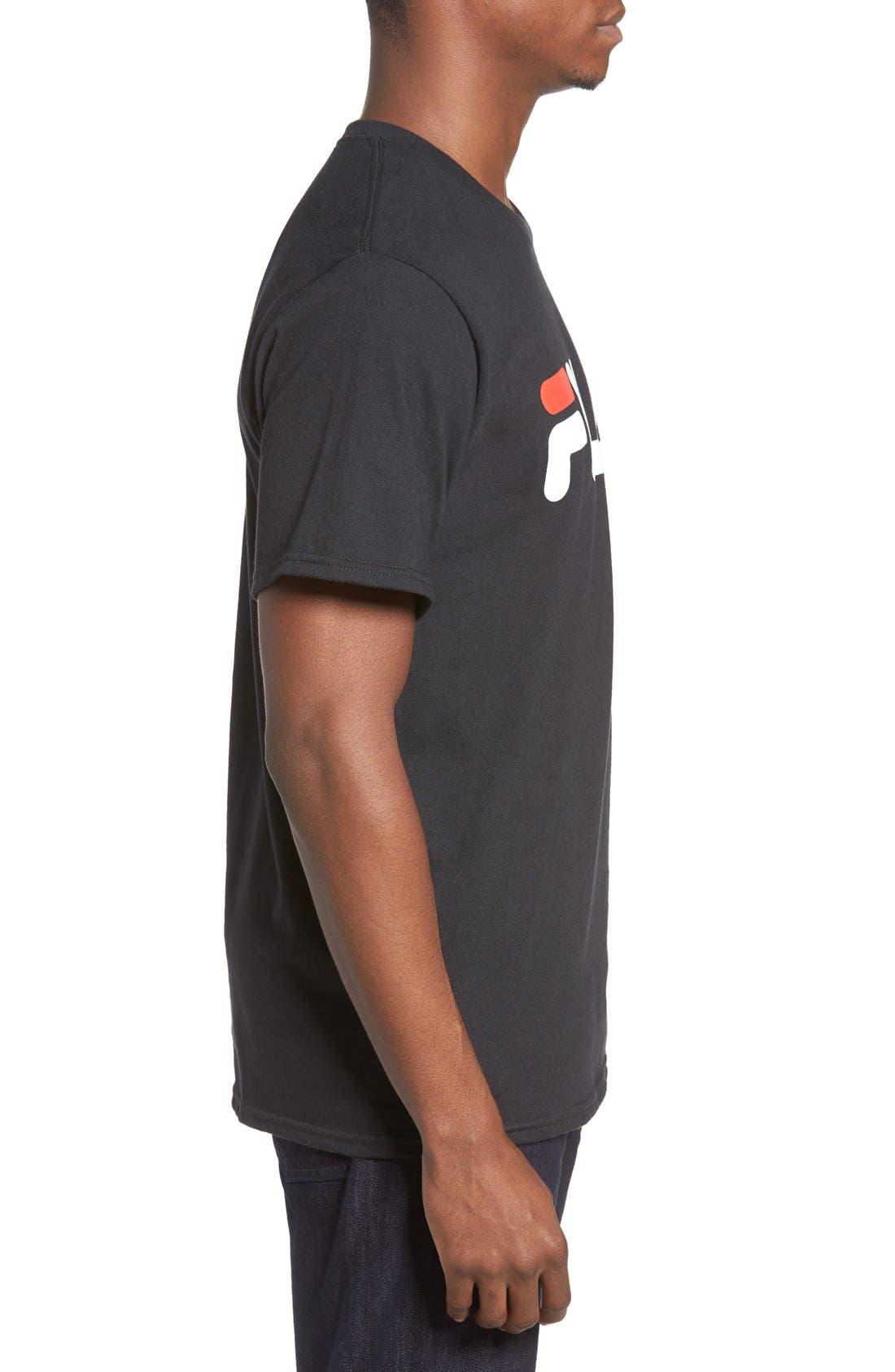 USA Graphic T-Shirt,                             Alternate thumbnail 3, color,                             Black