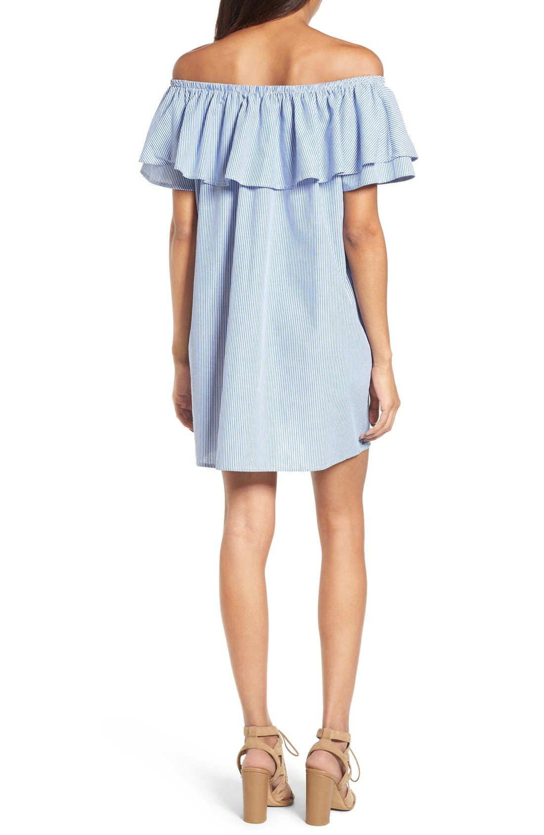Alternate Image 2  - Soprano Off the Shoulder Ruffle Shift Dress