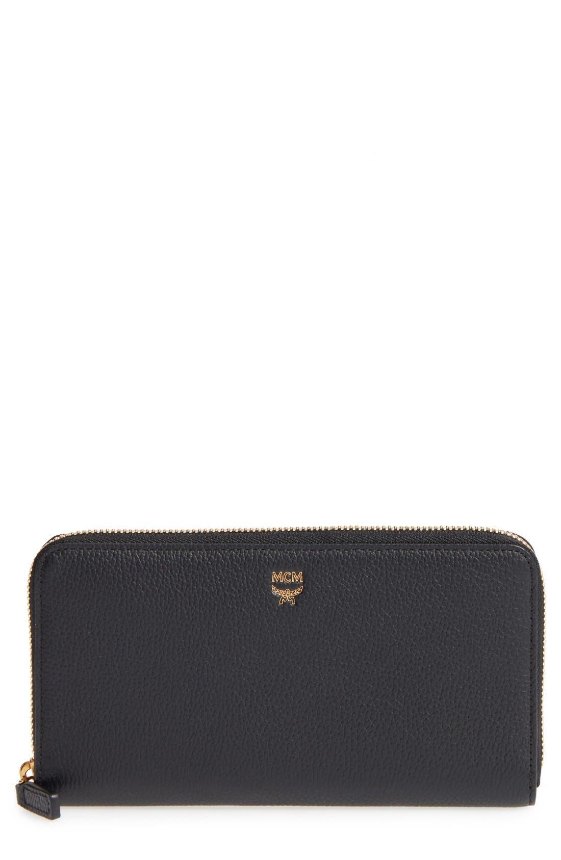 MCM Milla Leather Zip Around Wallet
