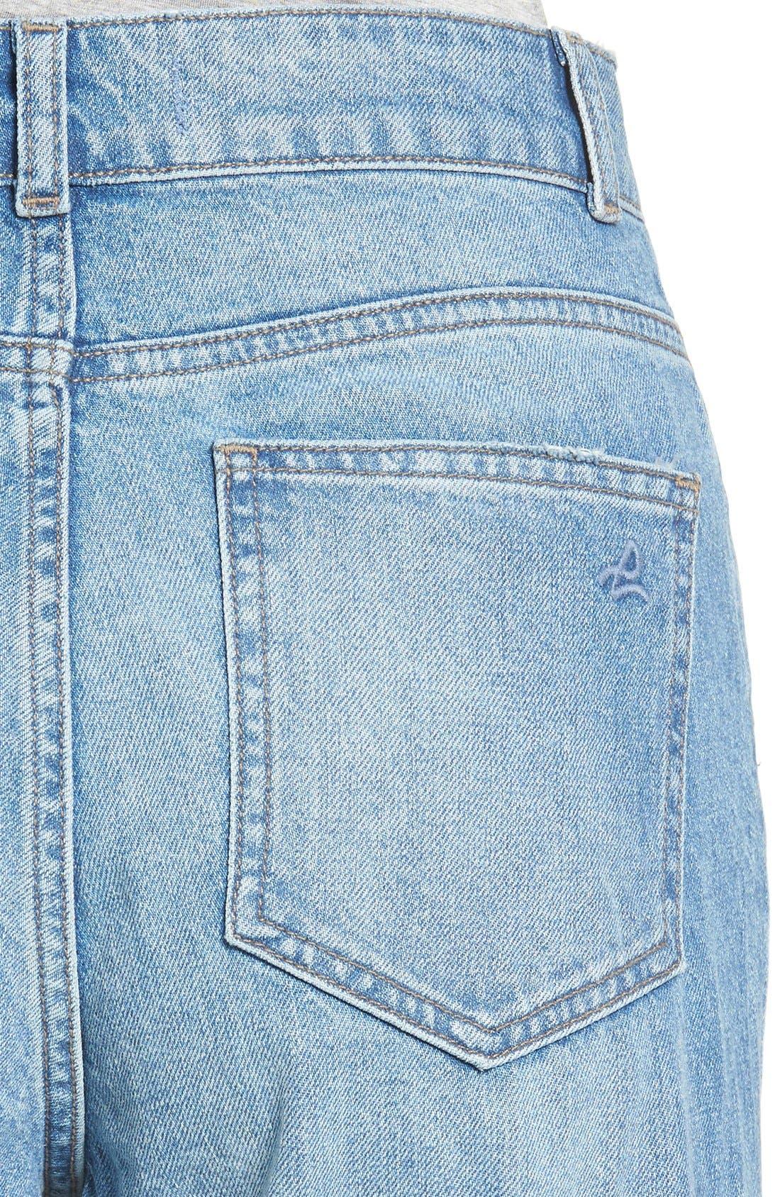 Hepburn High Rise Wide Leg Jeans,                             Alternate thumbnail 4, color,                             Slate