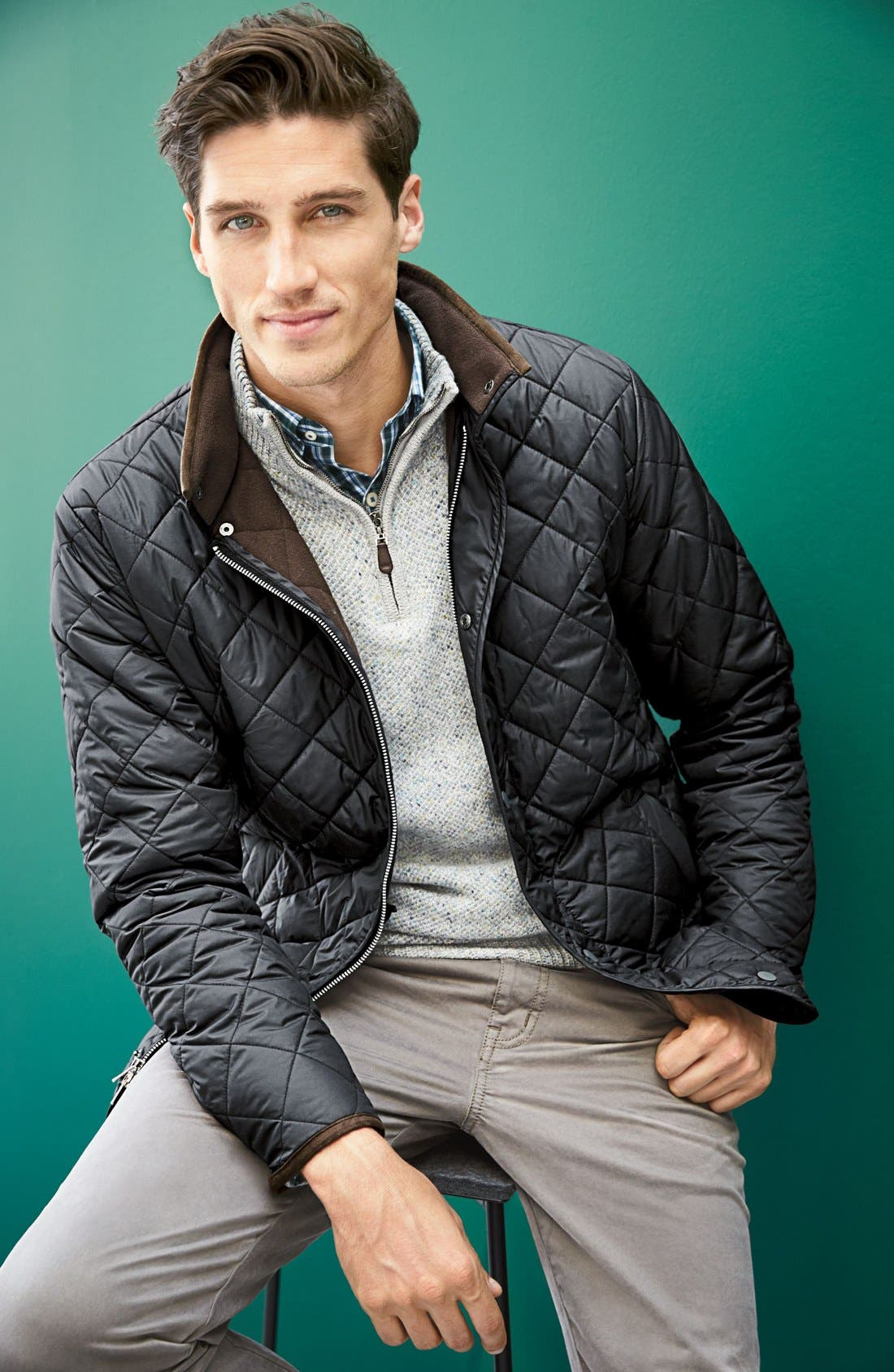 Alternate Image 6  - Peter Millar Norfolk Water Resistant Quilted Jacket