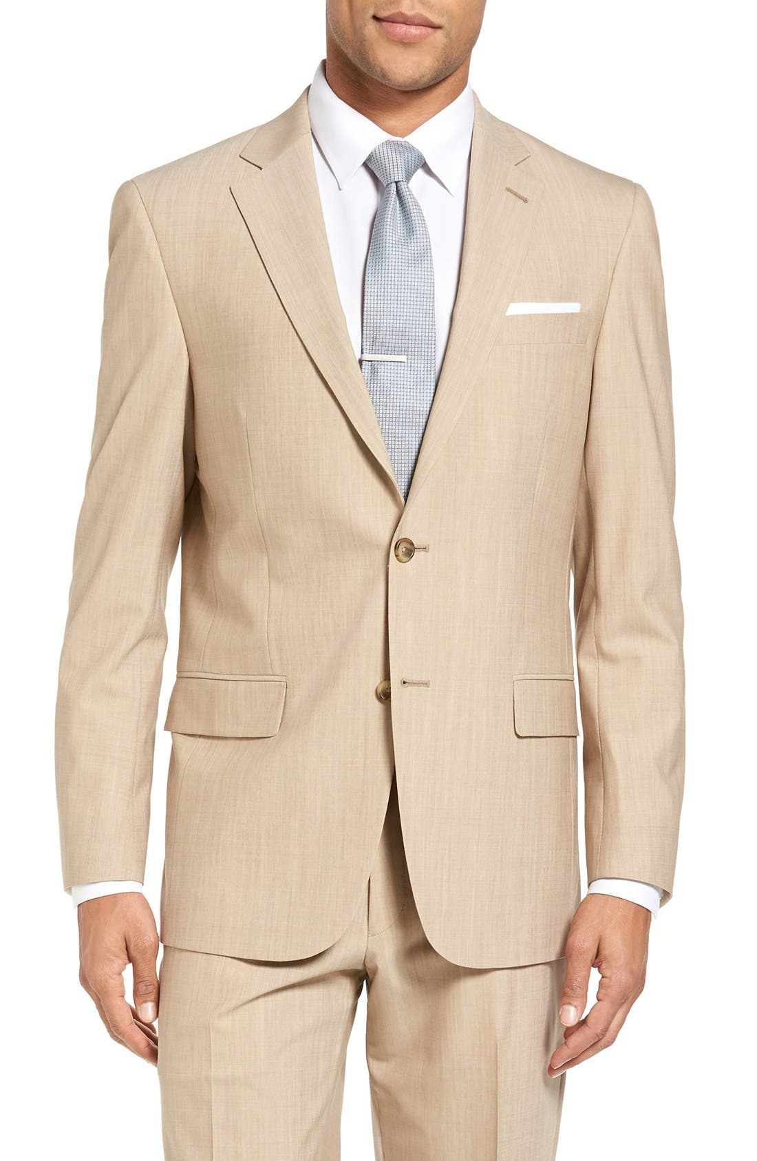 Alternate Image 4  - Hart Schaffner Marx New York Classic Fit Solid Stretch Wool Suit
