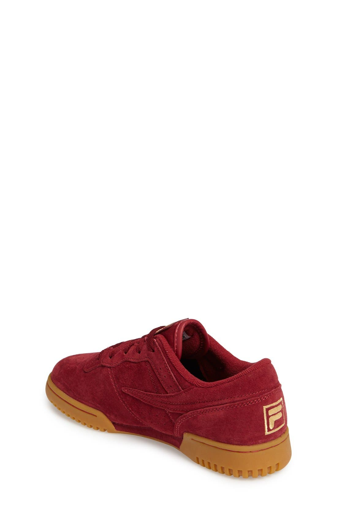 Heritage Sneaker,                             Alternate thumbnail 2, color,                             Biking Red Suede
