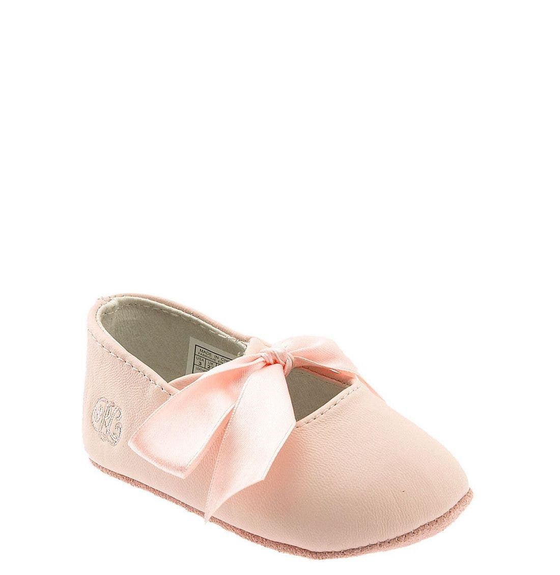 Layette 'Briley' Shoe,                             Main thumbnail 1, color,                             Pink Lambskin
