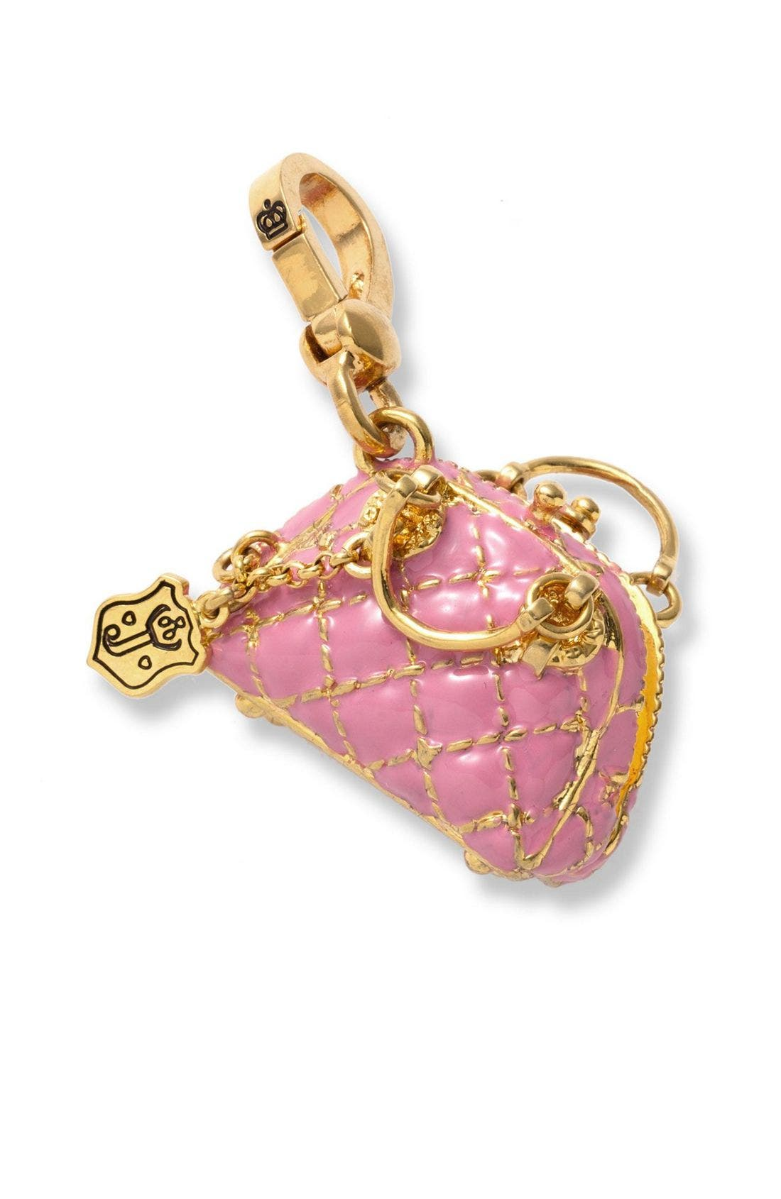 Alternate Image 1 Selected - Juicy Couture 'Status Bag' Pink Charm