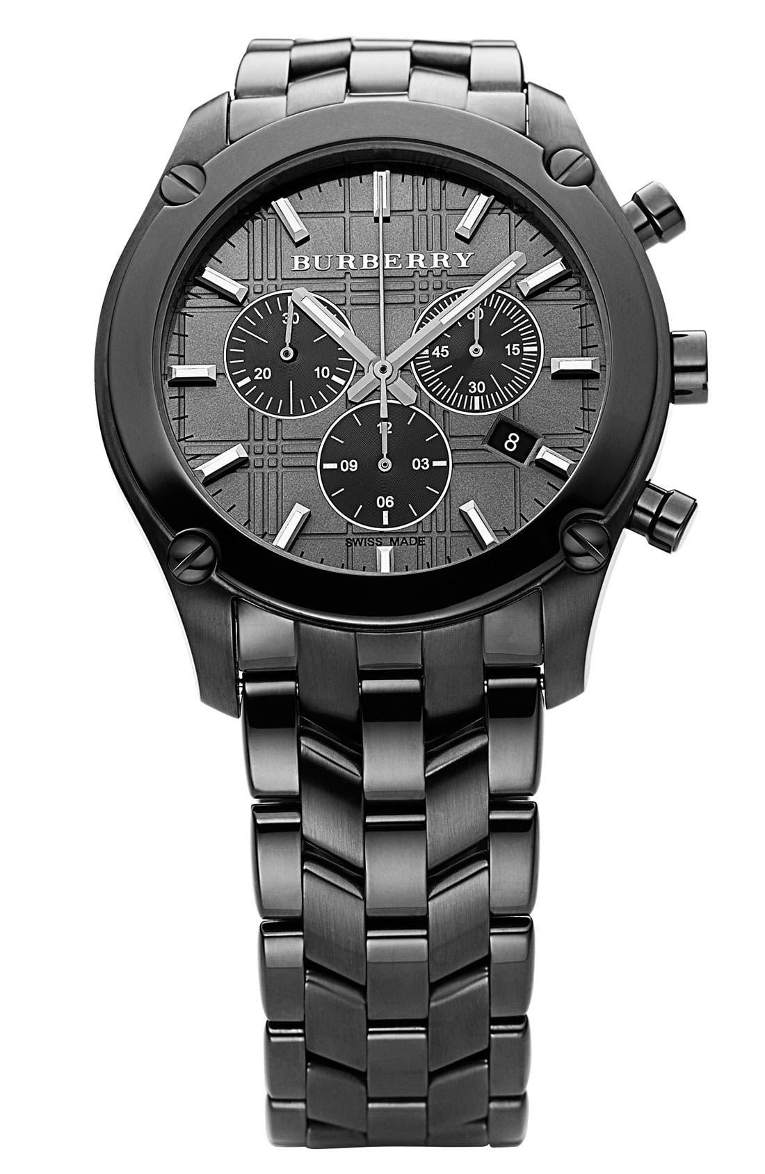 Men's Stainless Steel Watch,                         Main,                         color, Dark Grey