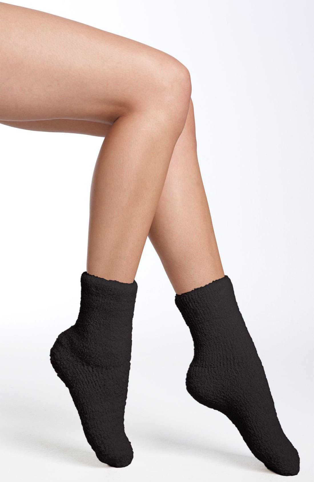 Butter Slipper Socks,                         Main,                         color, Black