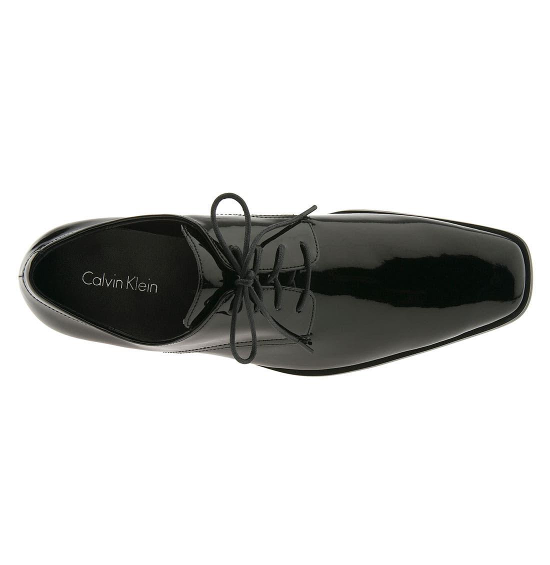 'Gareth II' Oxford,                             Alternate thumbnail 3, color,                             Black Patent