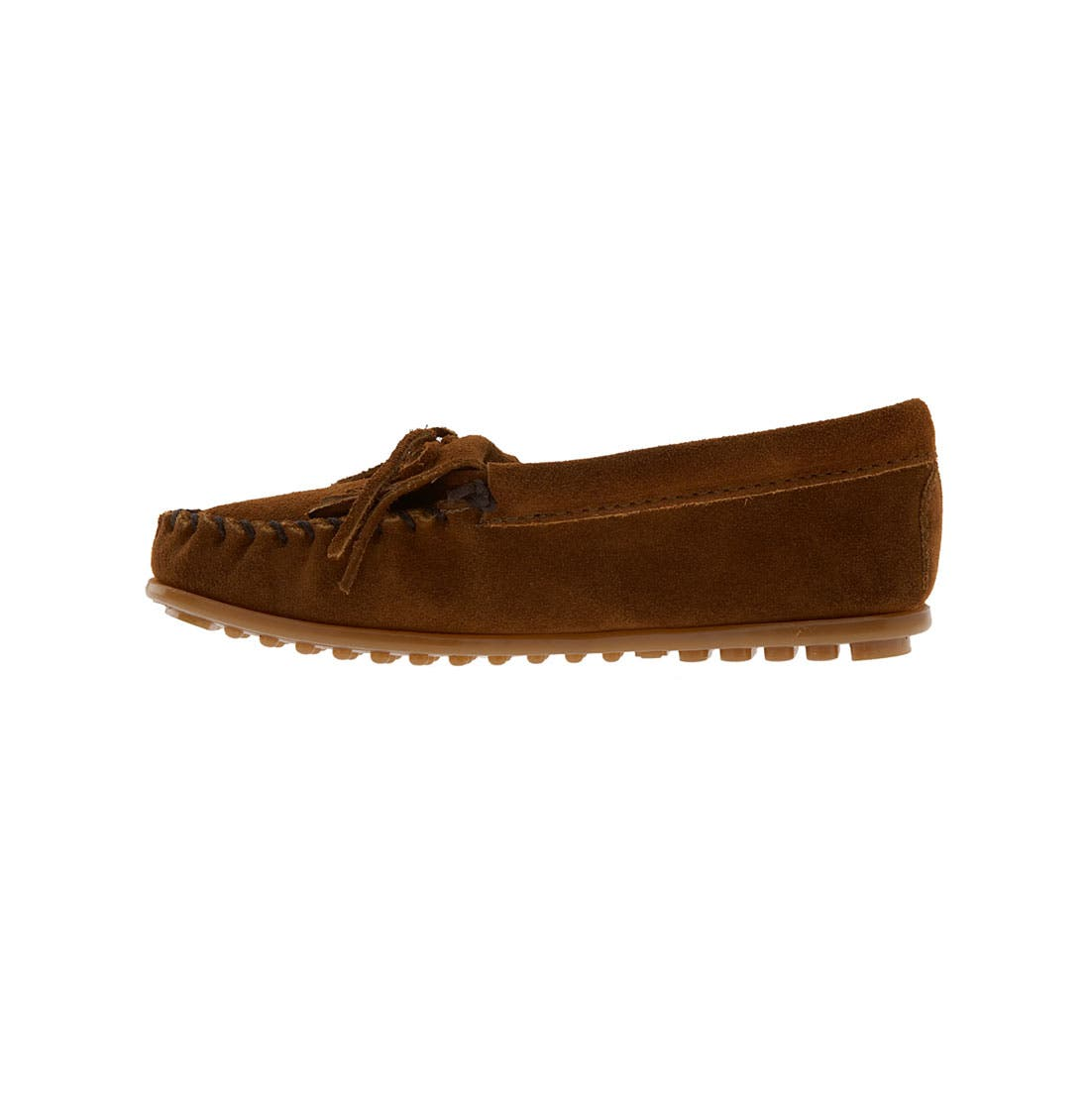 Alternate Image 2  - Minnetonka Kiltie Moccasin (Walker, Toddler, Little Kid & Big Kid)
