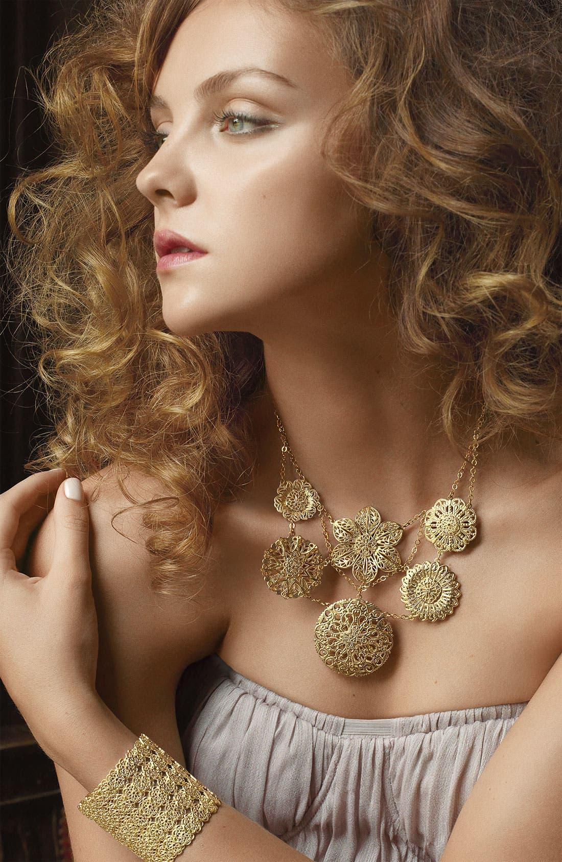 Alternate Image 2  - Nordstrom Goldtone Bib Necklace