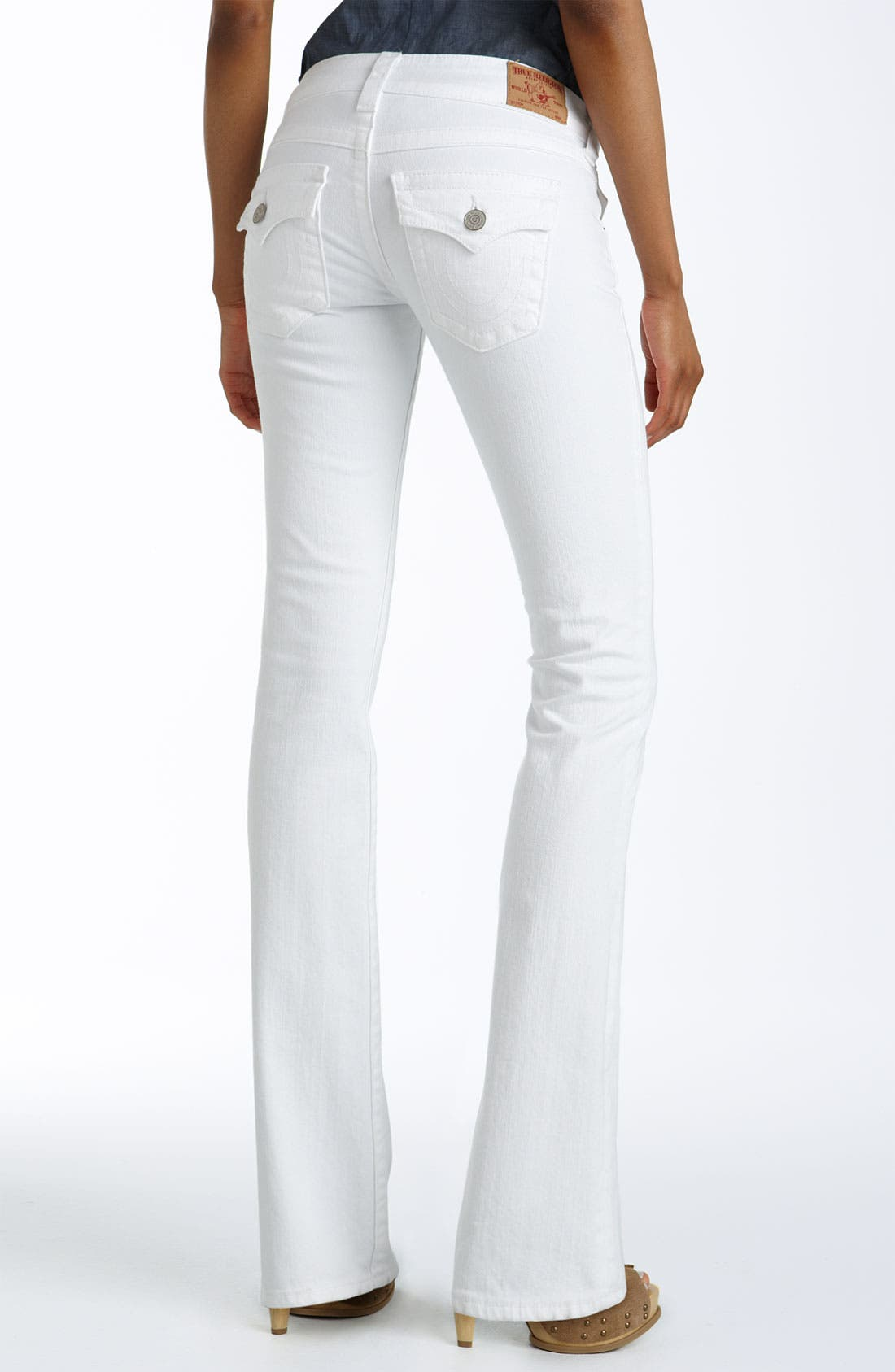 Main Image - True Religion Brand Jeans 'Becky' Bootcut Stretch Jeans (Body Rinse White)