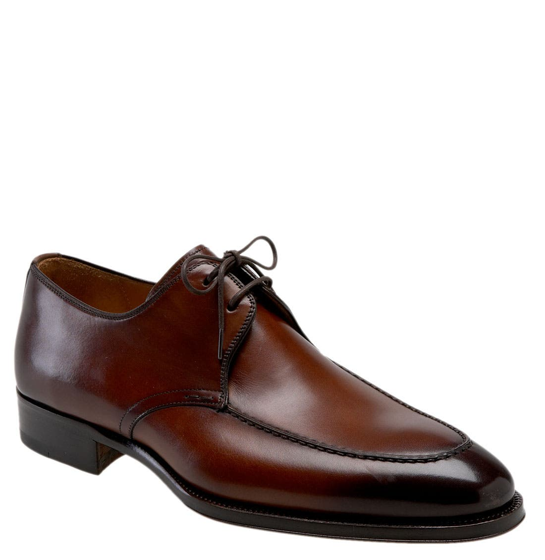 'Basilio' Apron Toe Oxford,                         Main,                         color, Mid Brown