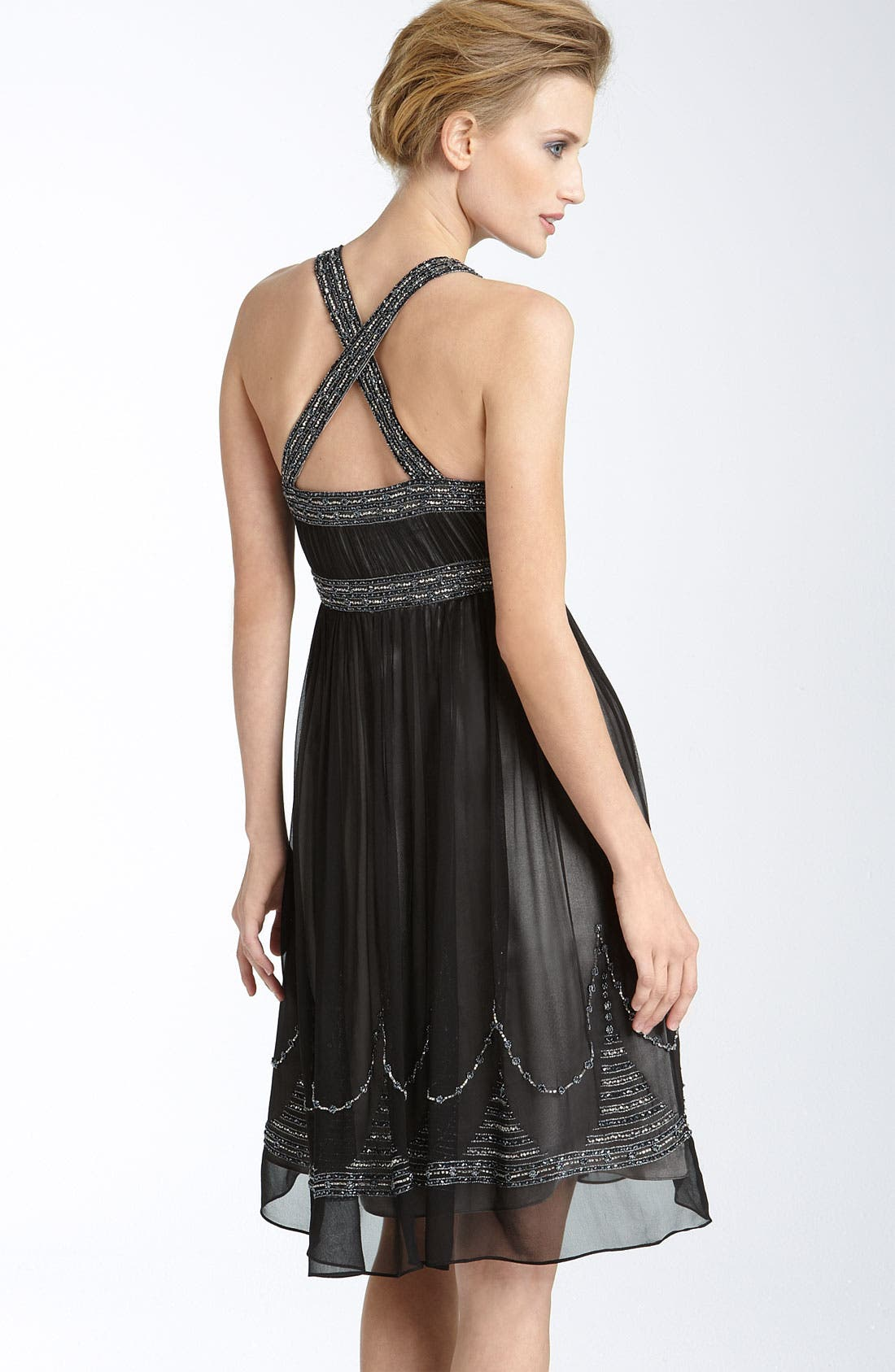 Alternate Image 2  - Adrianna Papell Beaded Silk Chiffon Dress