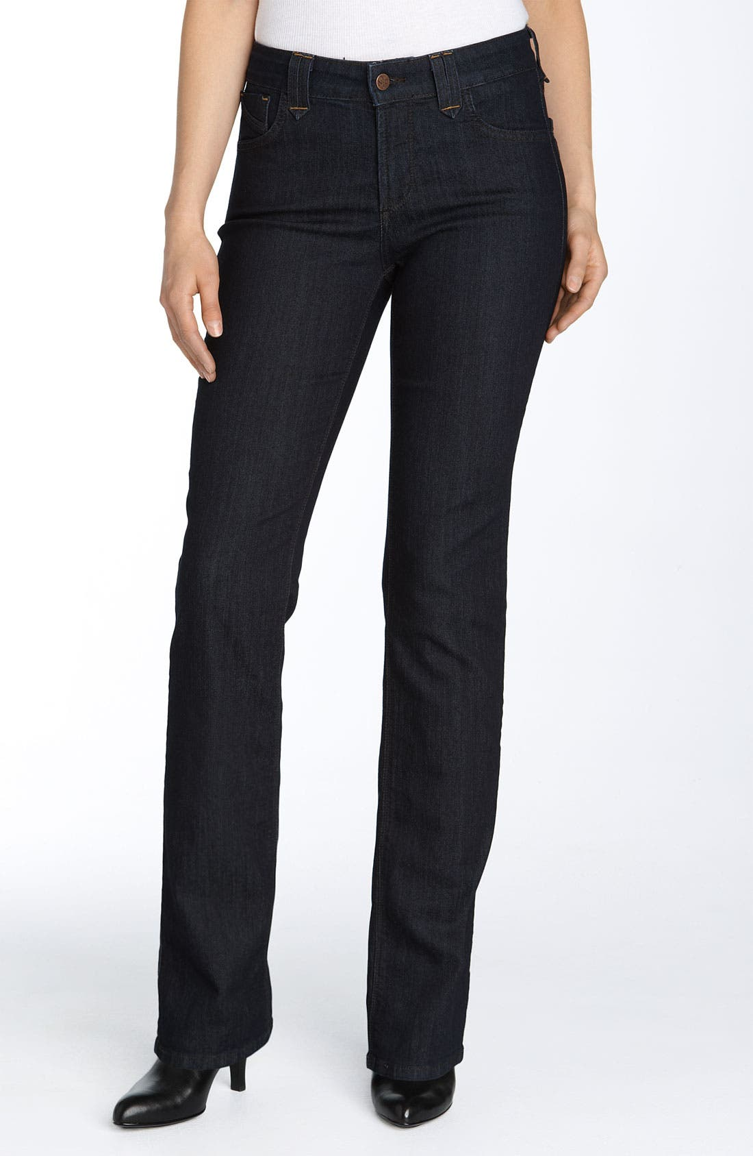 Alternate Image 1 Selected - NYDJ Marilyn Stretch Straight Leg Jeans (Resin)
