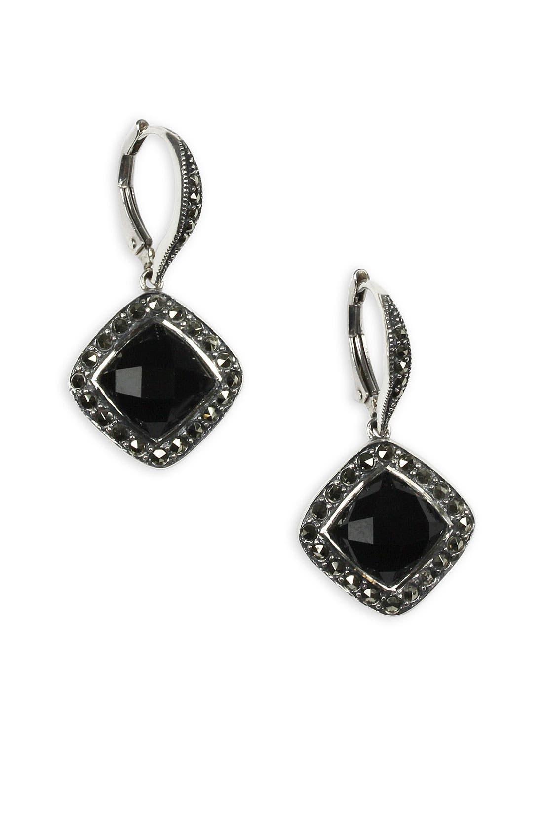 Alternate Image 1 Selected - Judith Jack 'Luster Onyx' Drop Earrings