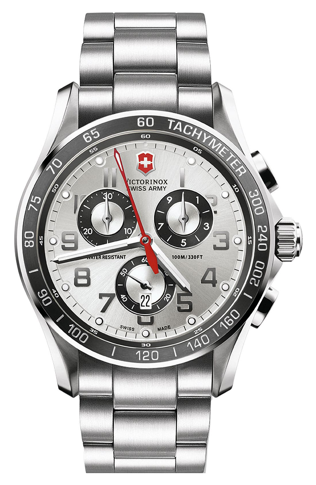 Alternate Image 1 Selected - Victorinox Swiss Army® 'Chrono Classic XLS' Bracelet Watch, 45mm