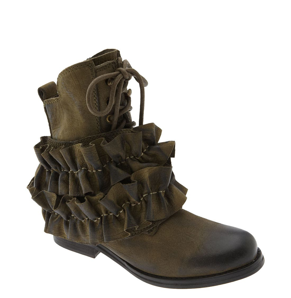 'All-Ruffle' Ankle Boot,                         Main,                         color, Khaki