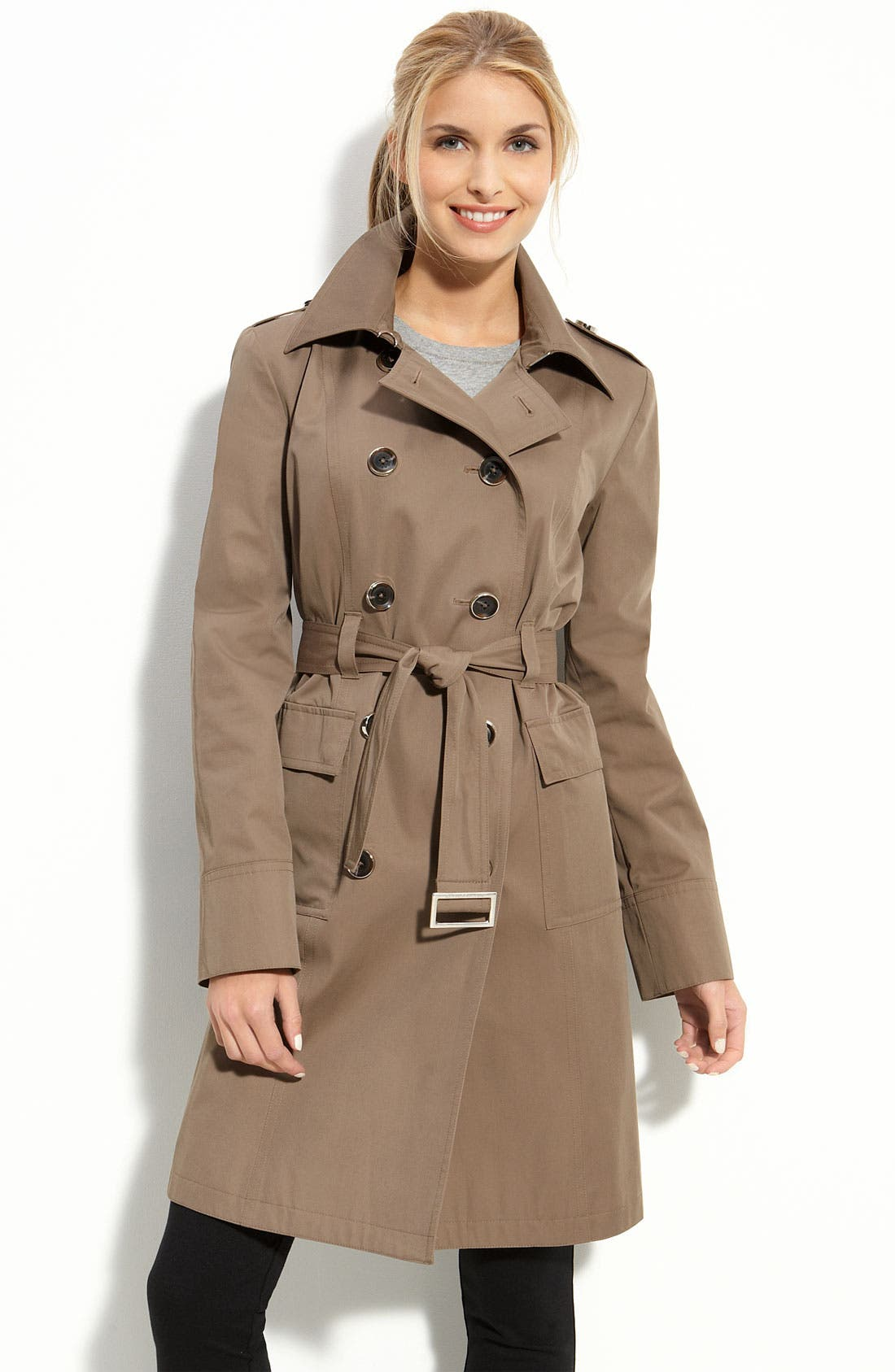 Alternate Image 1 Selected - MICHAEL Michael Kors Flap Pocket Trench