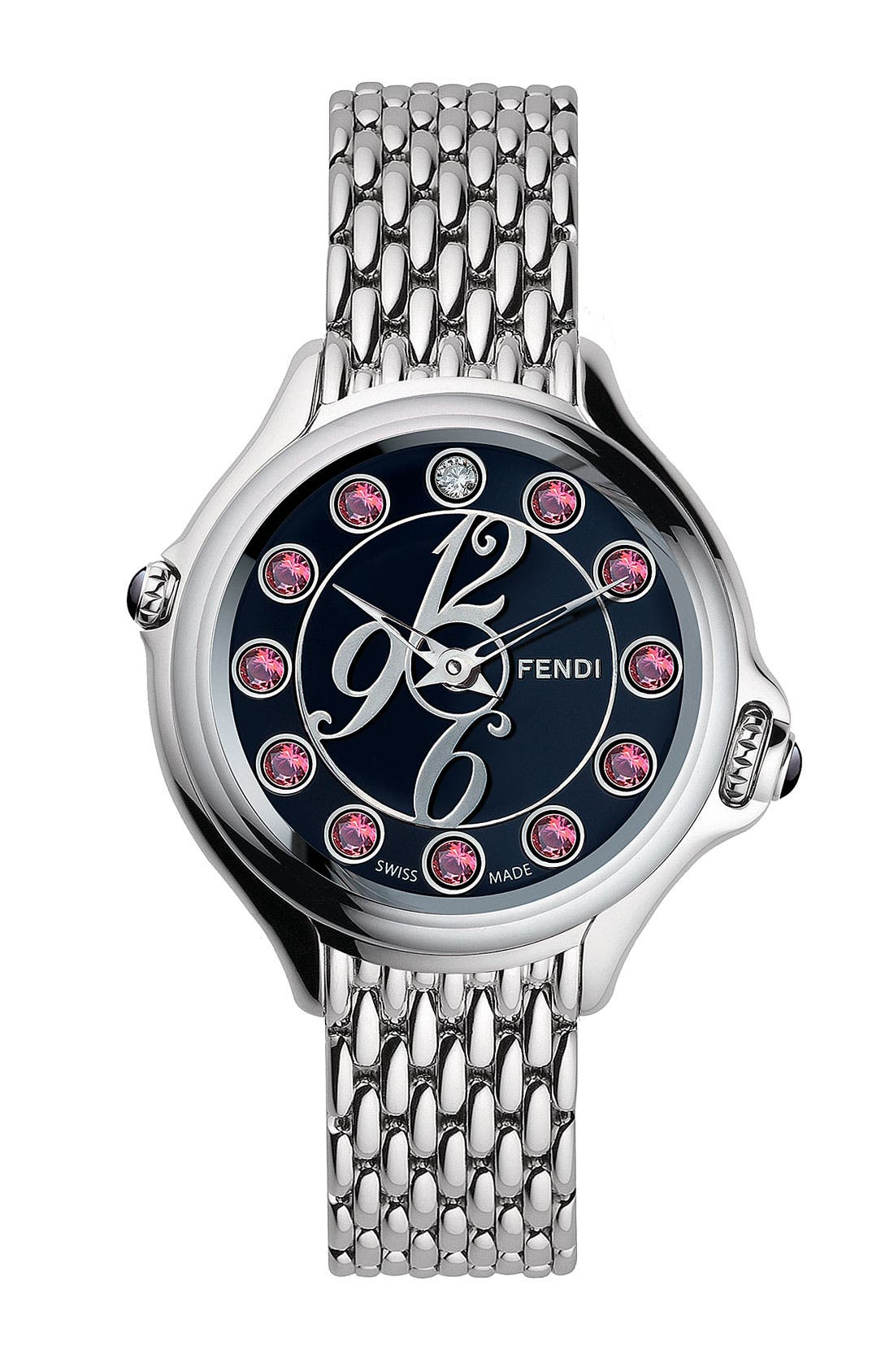 Alternate Image 2  - Fendi 'Crazy Carats' Small Bracelet Watch, 33mm