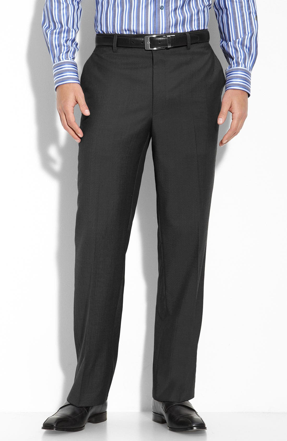 Main Image - Linea Naturale 'Cool Luxe' Super 100s Wool Gabardine Trousers