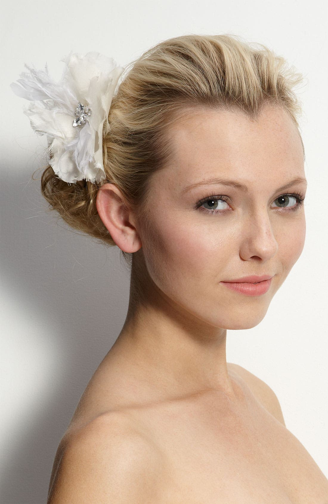 Main Image - Tasha Feather Flower Clip