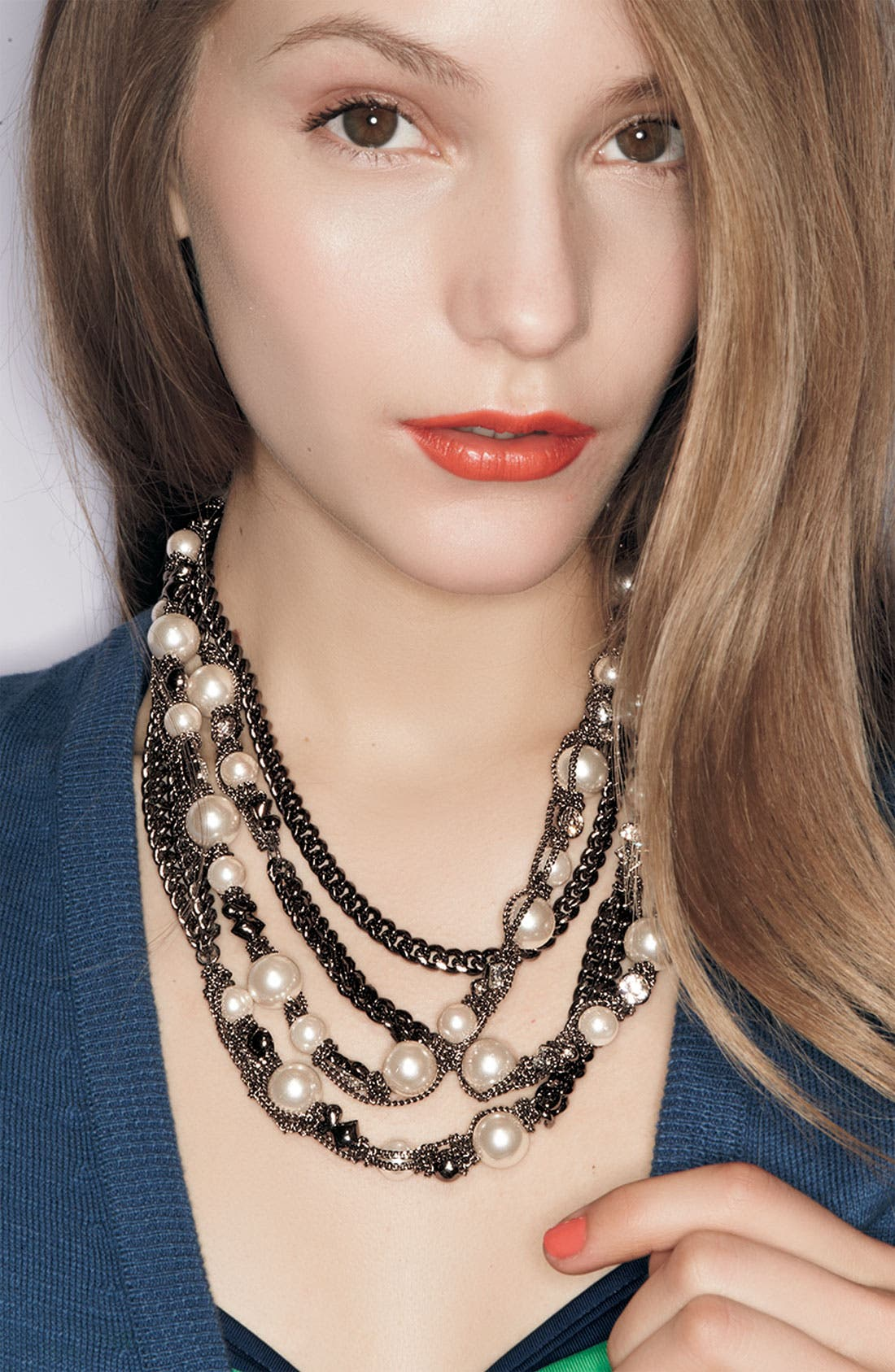 Alternate Image 3  - Givenchy Faux Pearl & Chain Long Necklace