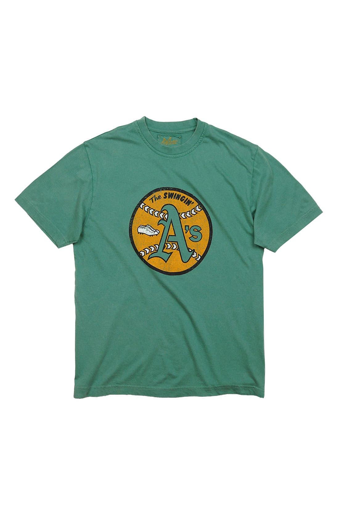 Alternate Image 1 Selected - Red Jacket 'Oakland Athletics' Trim Fit T-Shirt (Men)
