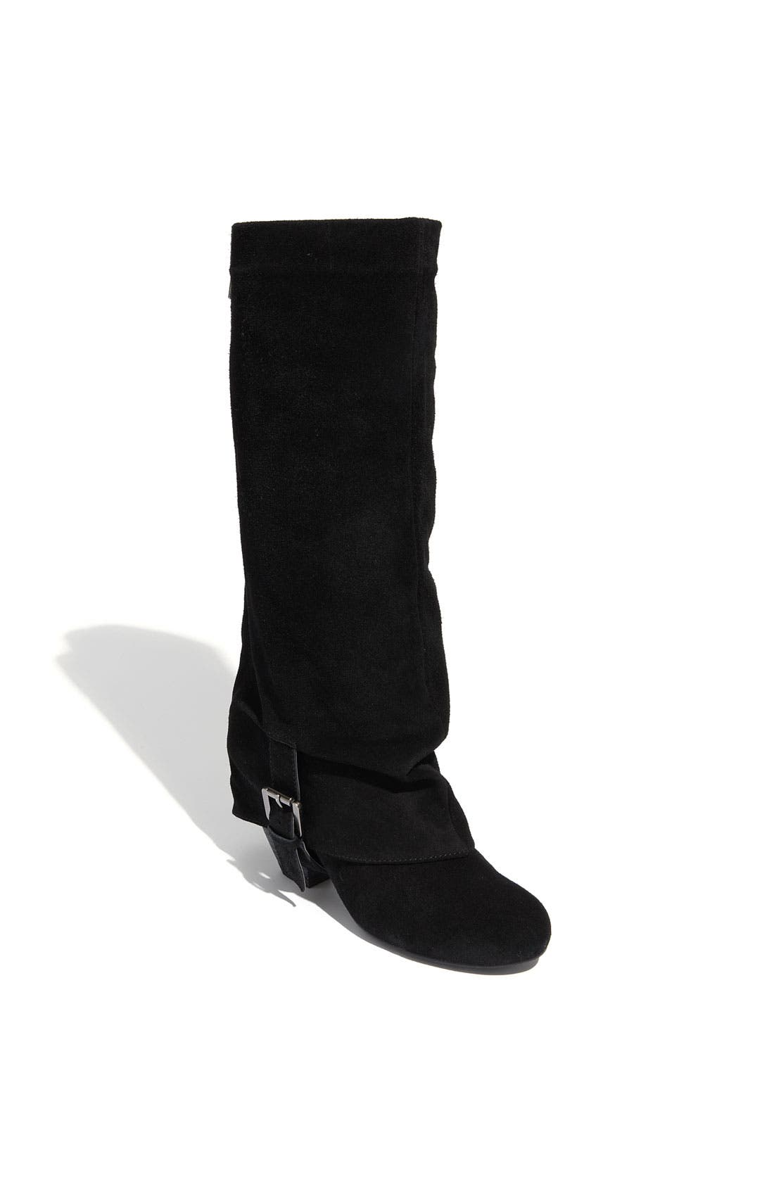 'Jump Start' Boot,                             Main thumbnail 1, color,                             Black Suede