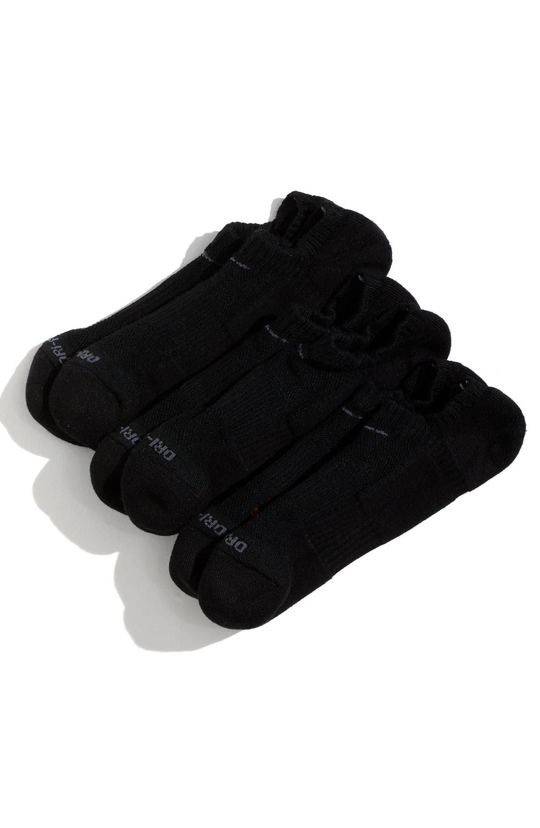 Alternate Image 1 Selected - Nike Dri-FIT No-Show Socks (3-Pack) (Little Boys & Big Boys)