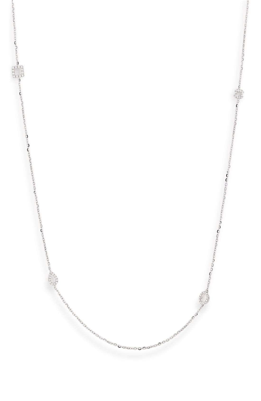 Main Image - Bony Levy Diamond Station Long Necklace (Nordstrom Exclusive)