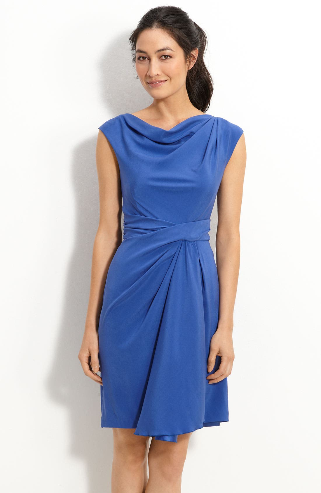 Alternate Image 1 Selected - Suzi Chin for Maggy Boutique Drape Front Silk Dress