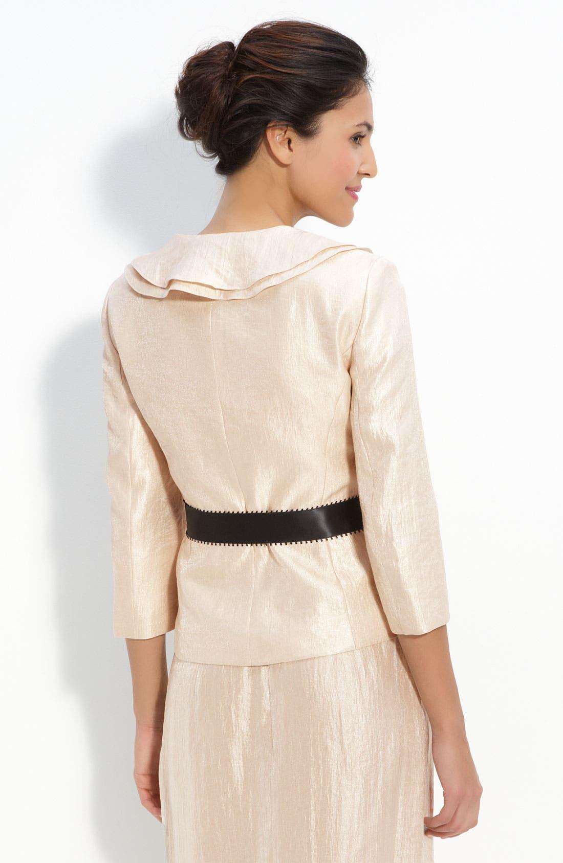 Alternate Image 2  - Adrianna Papell Shimmer Crepe Jacket