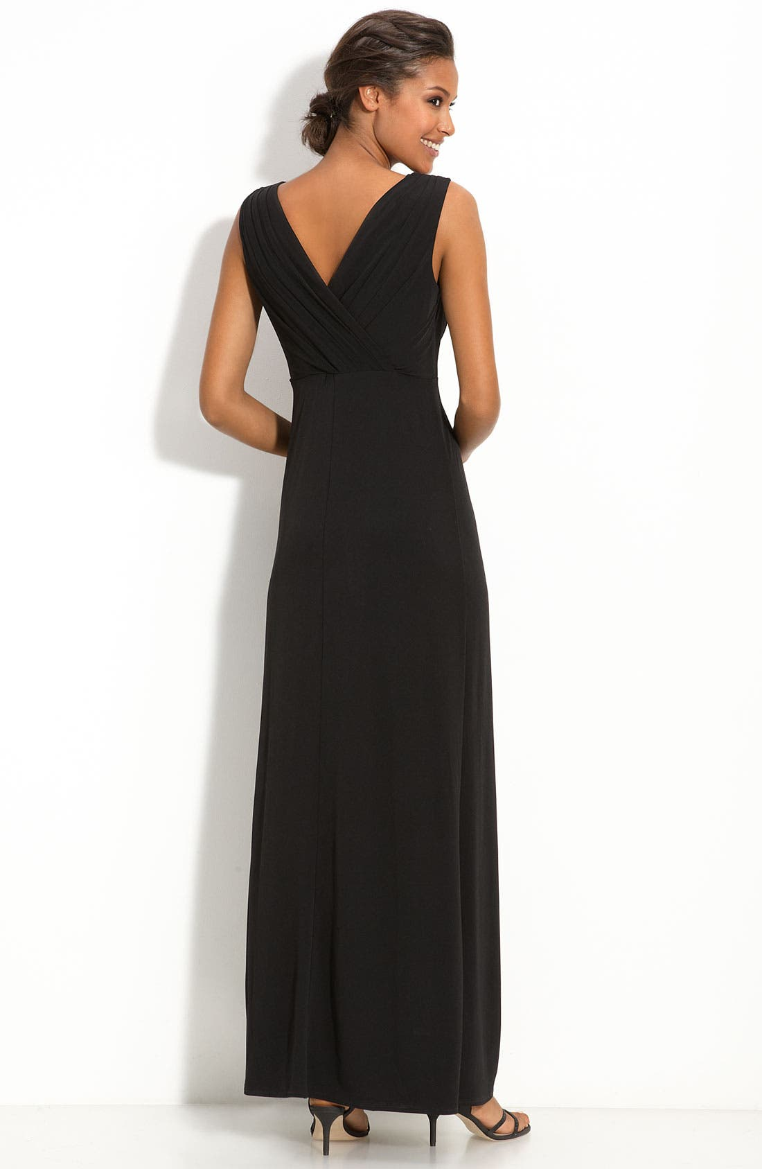 Alternate Image 2  - Max & Cleo Lace Inset Jersey Gown