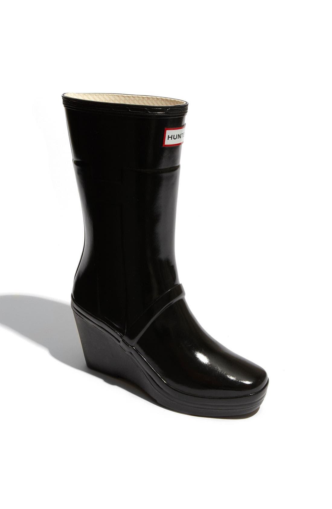 Alternate Image 1 Selected - Hunter 'Kellen' Wedge Heel Rain Boot