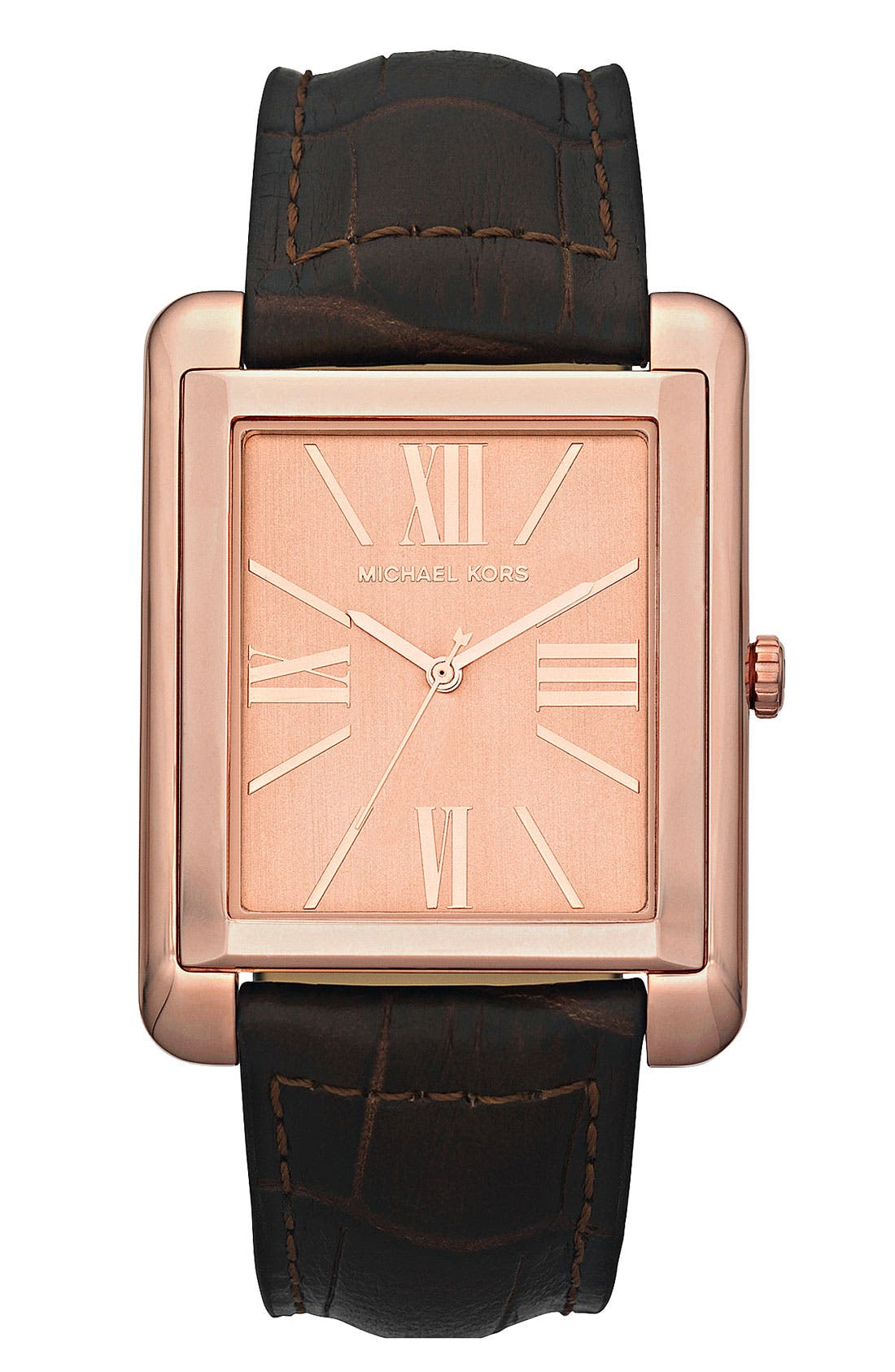 Main Image - Michael Kors 'Bradley' Leather Strap Watch