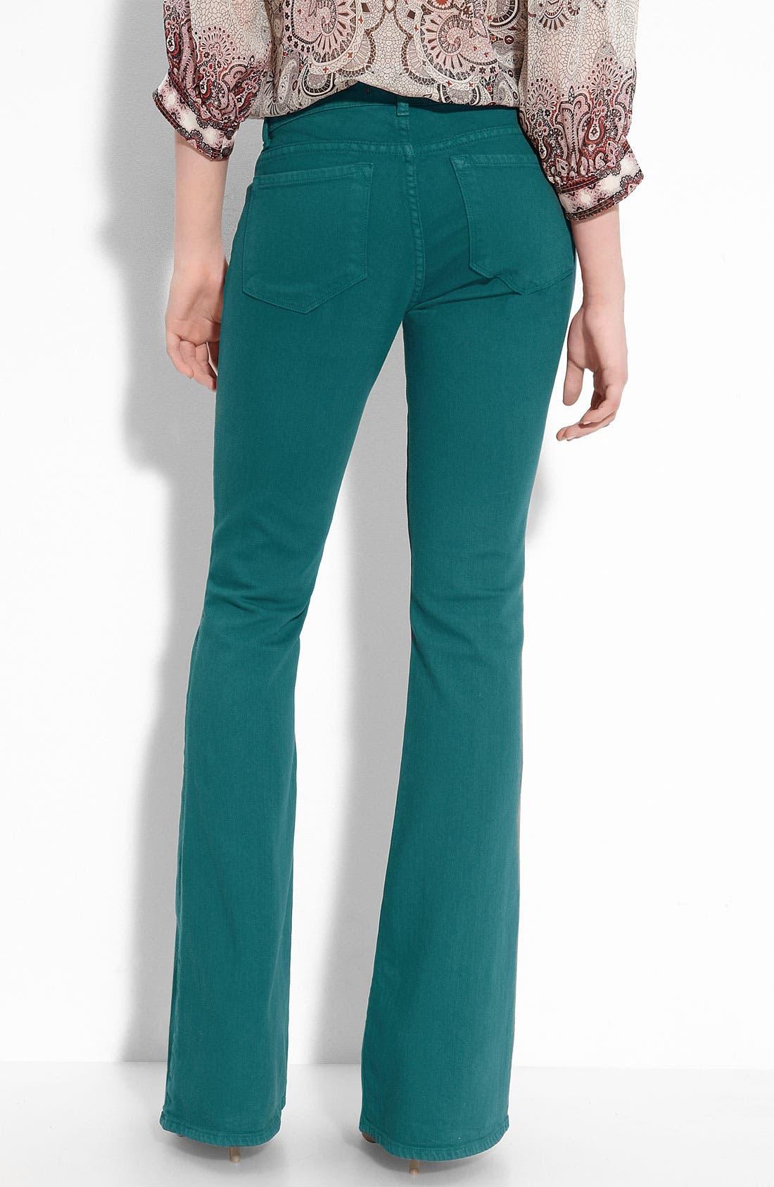 Alternate Image 2  - J Brand Mid Rise Flare Leg Stretch Jeans