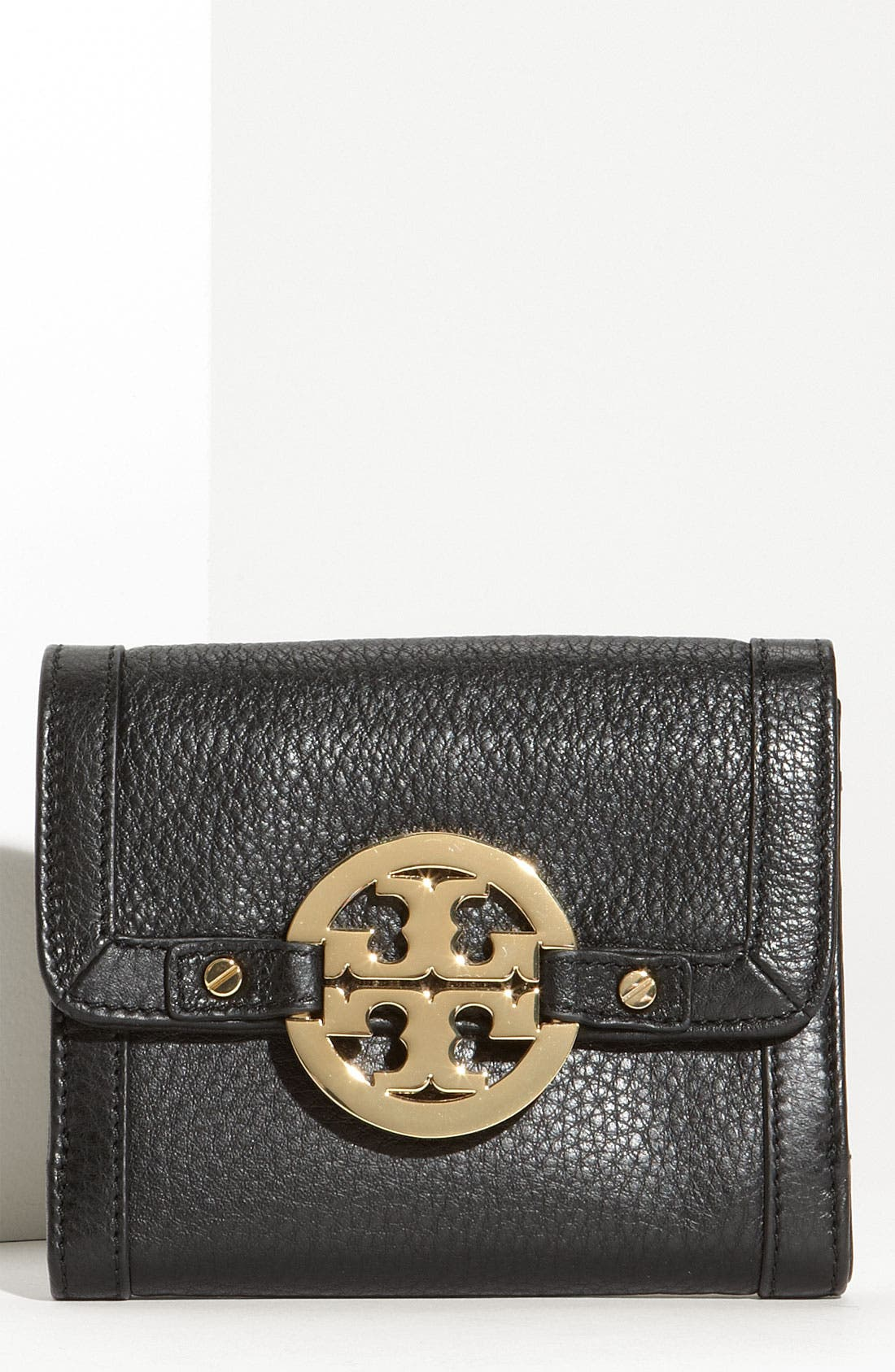 Main Image - Tory Burch 'Amanda Angelux' Double Flap French Wallet