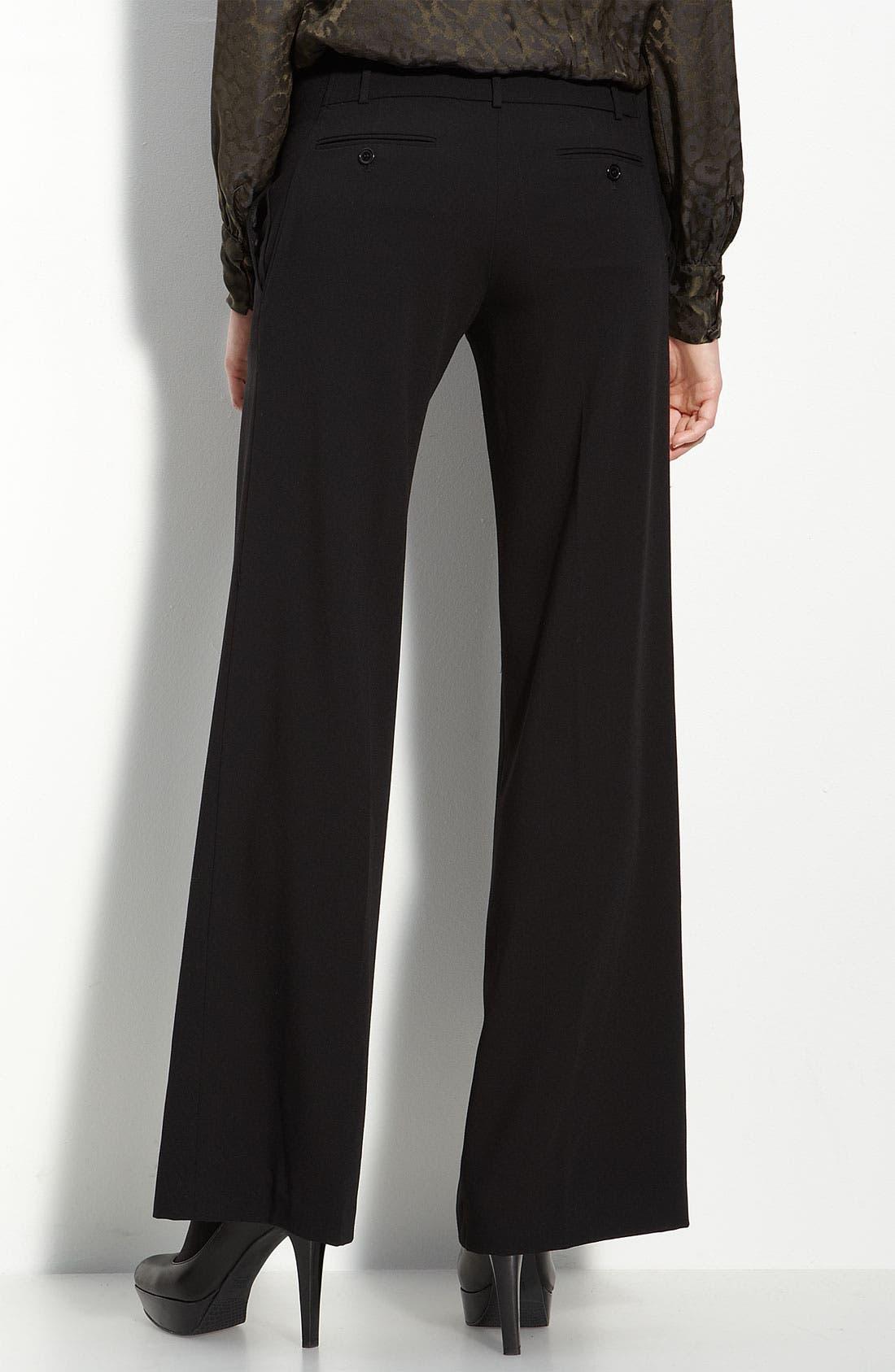 Wide Leg Trousers,                             Alternate thumbnail 2, color,                             Black