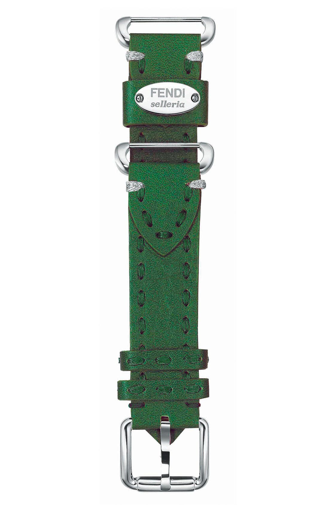 Alternate Image 1 Selected - Fendi 'Selleria' 18mm Watch Strap