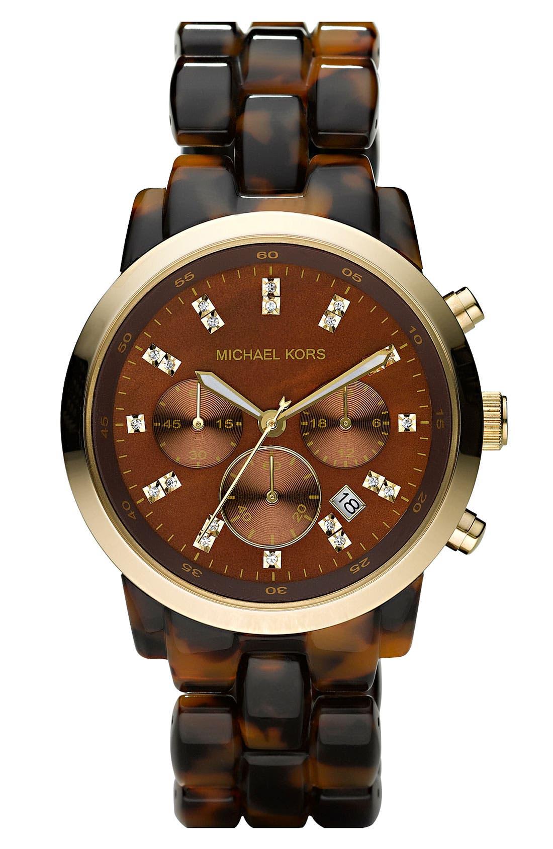 Main Image - Michael Kors Resin Chronograph Watch, 40mm
