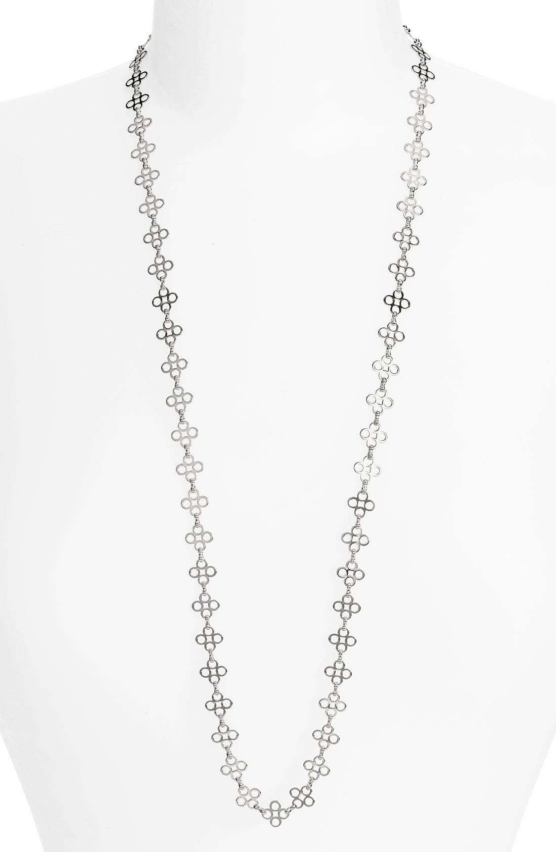 Main Image - Tory Burch Mini Clover Chain Necklace