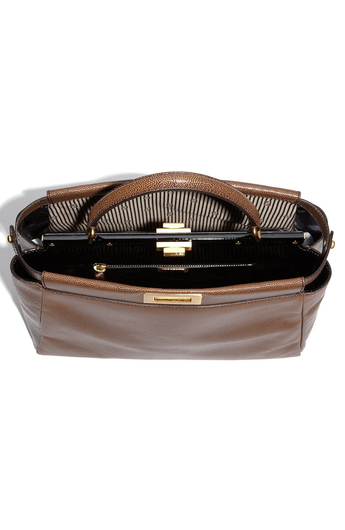 Alternate Image 3  - Fendi 'Peekaboo - Large' Glazed Leather Satchel