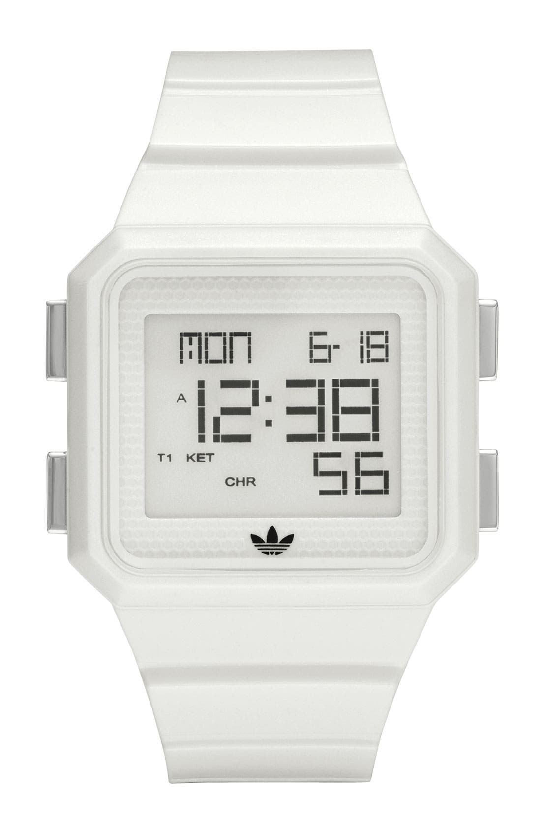 Main Image - adidas Originals 'Peachtree' Digital Watch, 46mm x 39mm